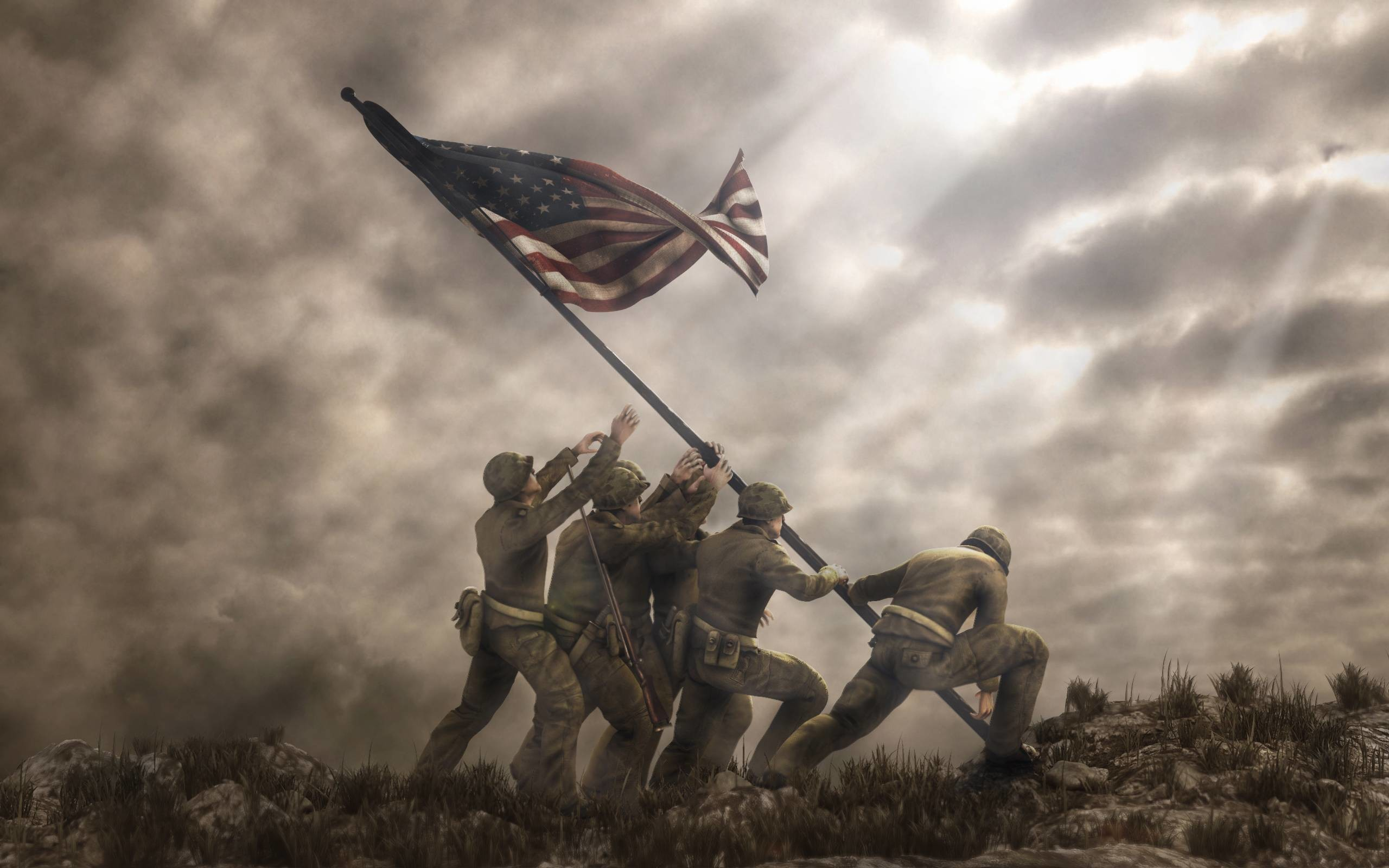 2560x1600 Iwo Jima Flag Raising Wallpapers - Wallpaper Cave