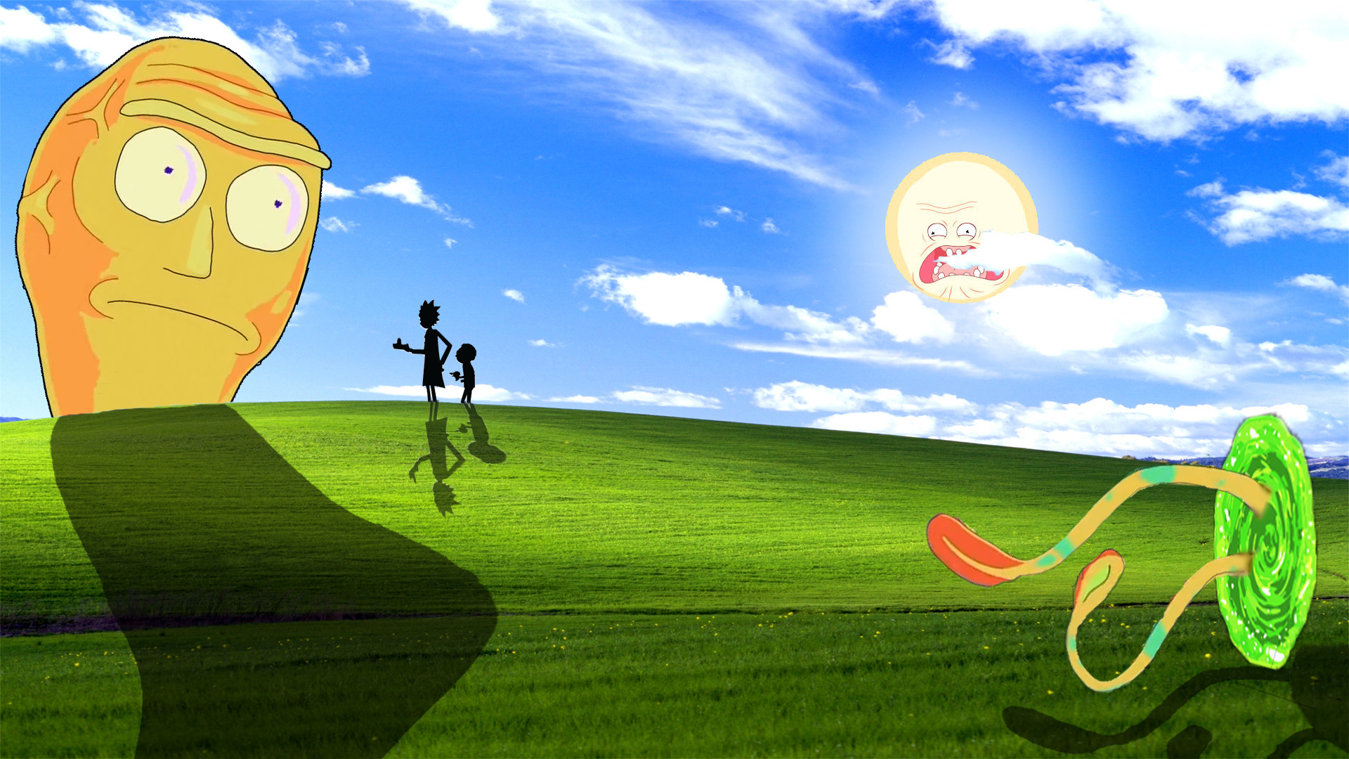 1920x1080 Rick and Morty Windows XP Wallpaper.