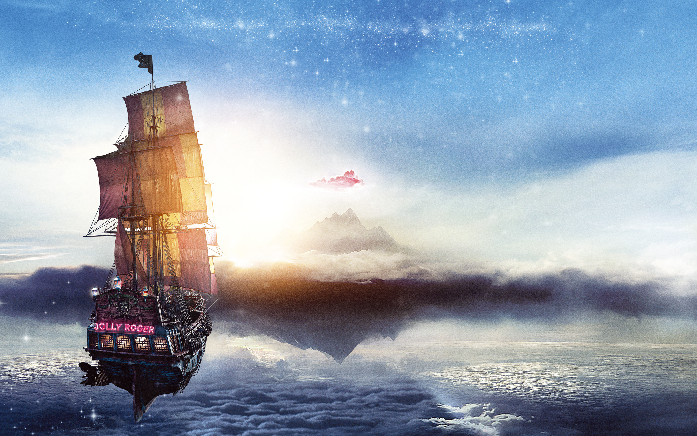 2880x1800 Jolly Roger Pan Pirate Ship