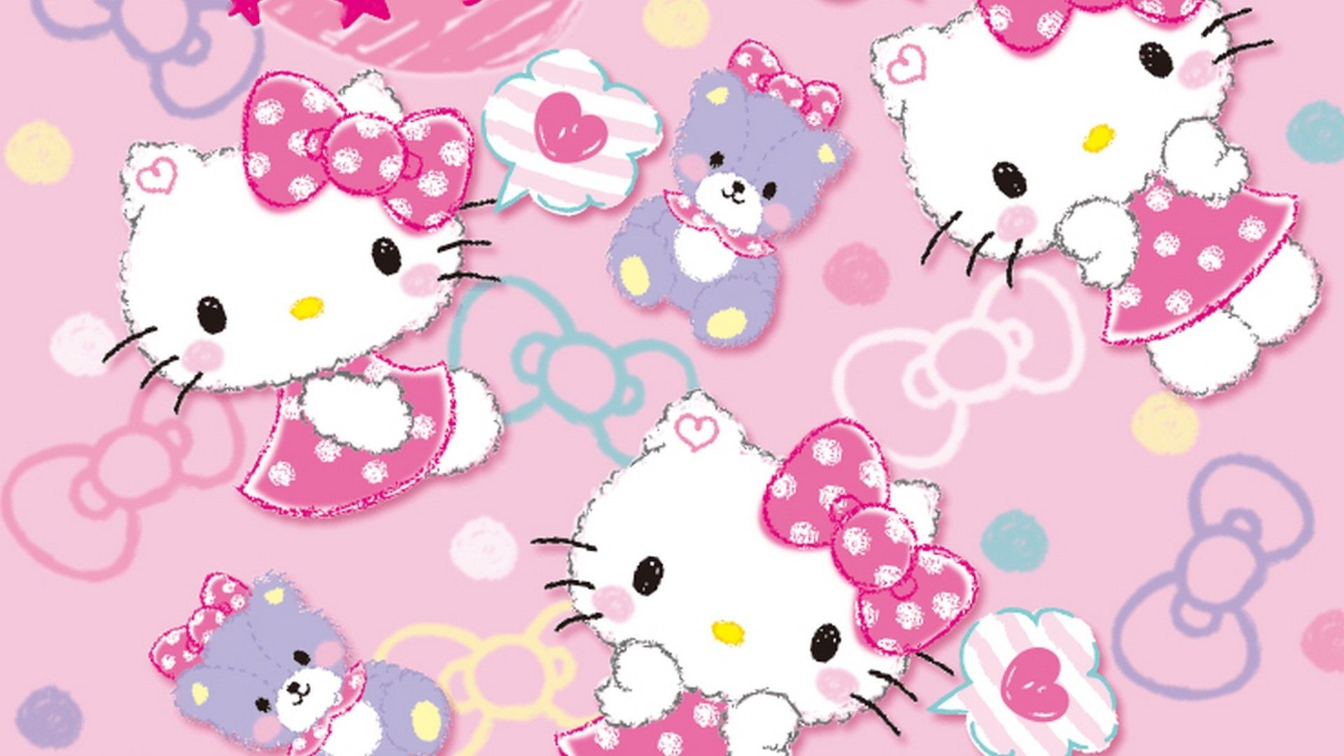 1920x1080 Hello Kitty Characters Background Wallpaper HD - Best Wallpaper HD