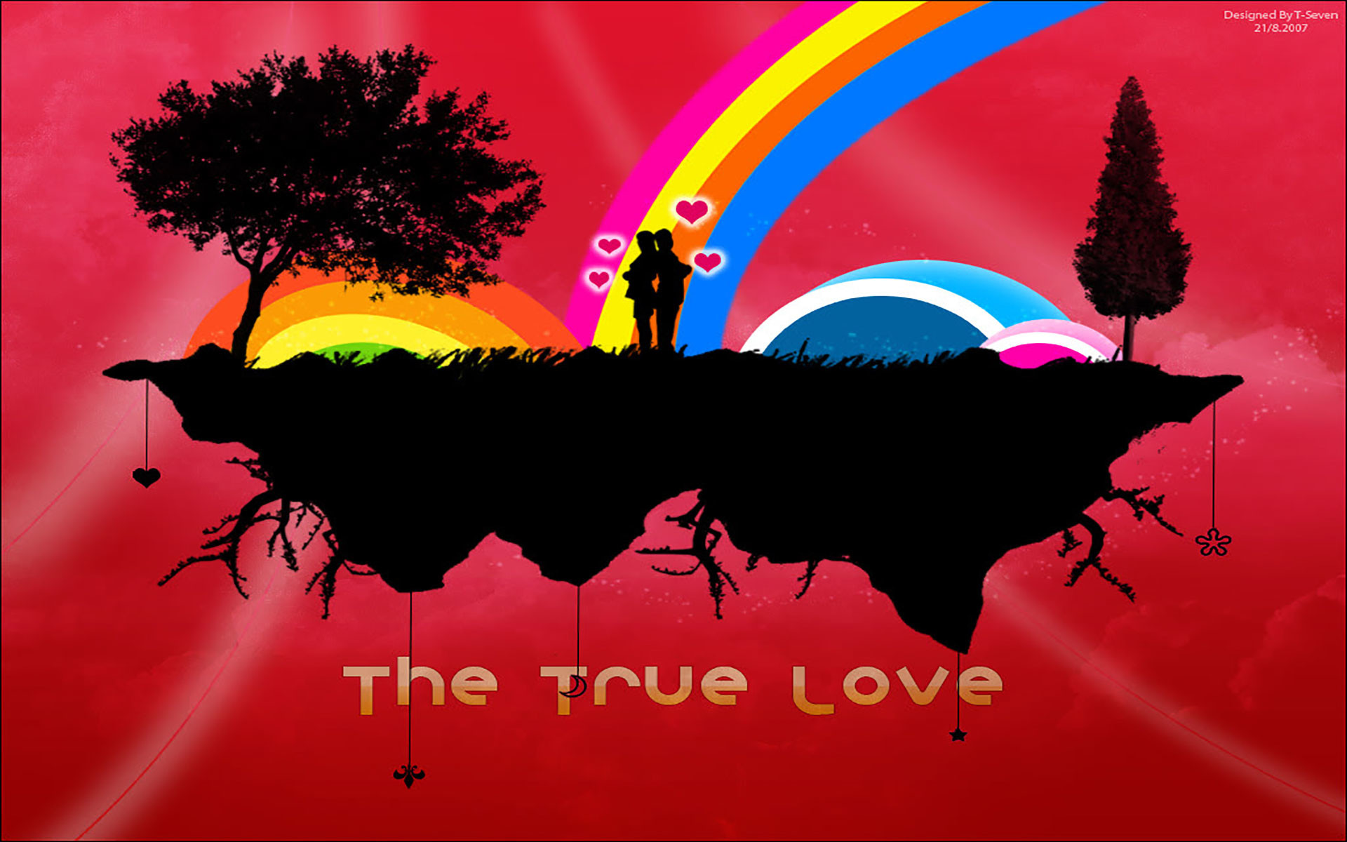 1920x1200 The True Silhouette Love Vector Wallpaper