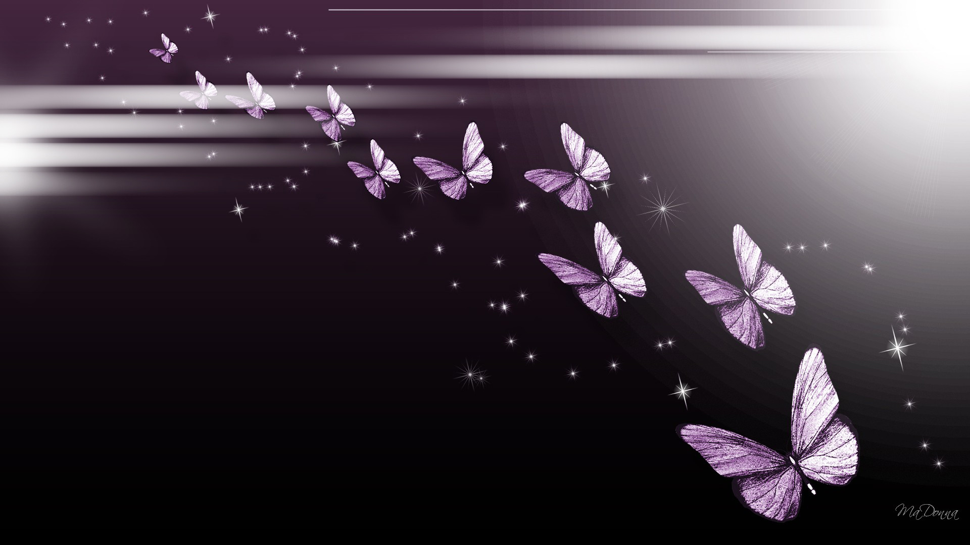 1920x1080 Red Butterfly Hd Black Background