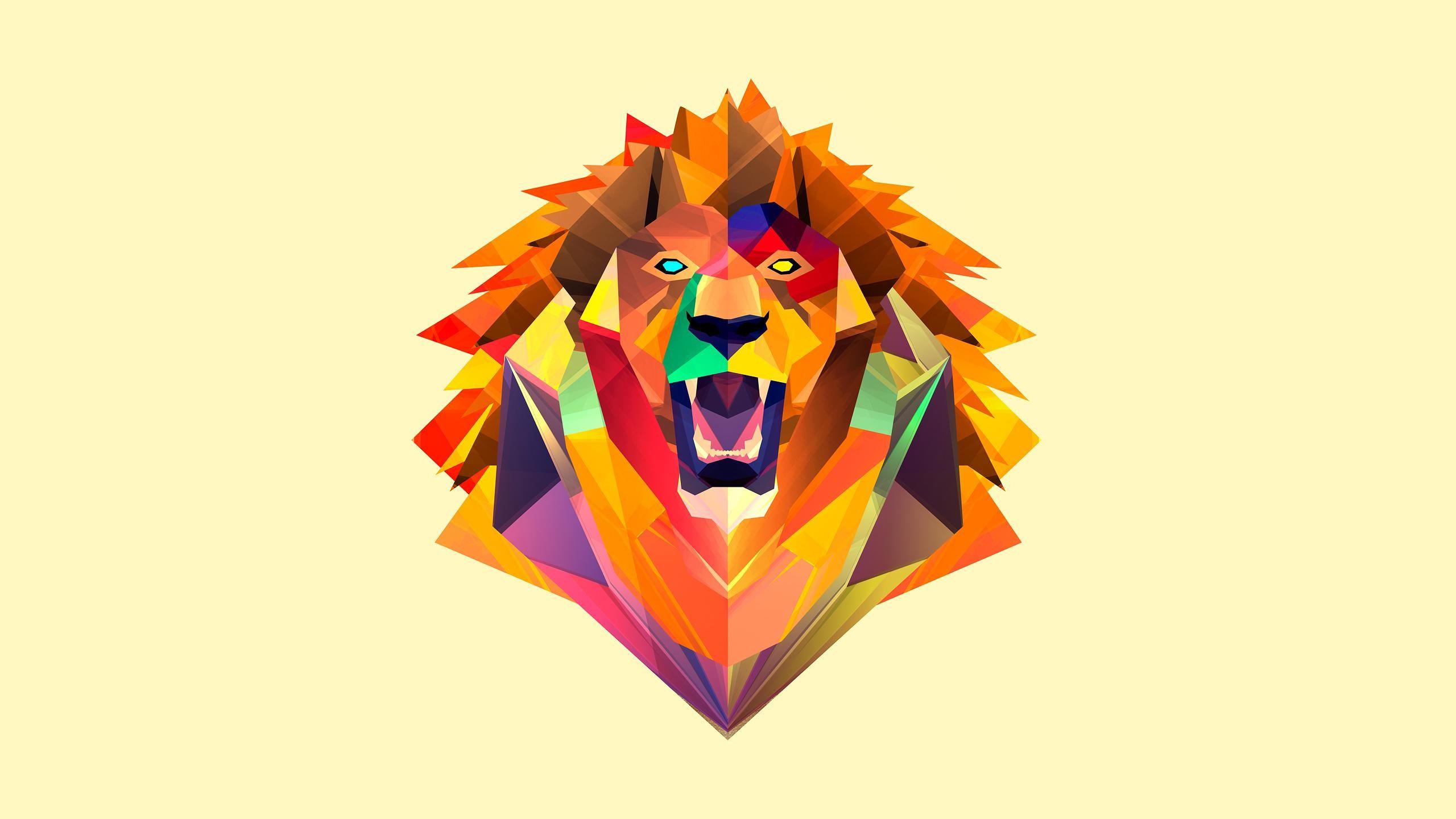 1440x2560 White Lion Wallpaper