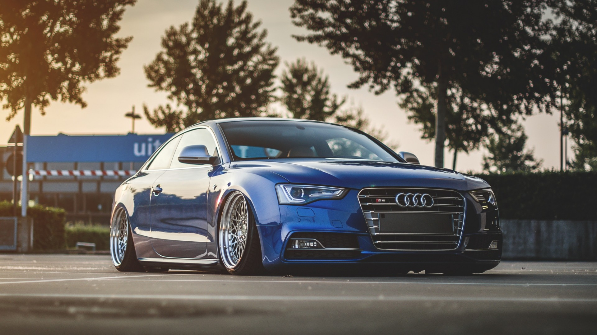1920x1080  Wallpaper audi, s5, tuning, wheels, side view