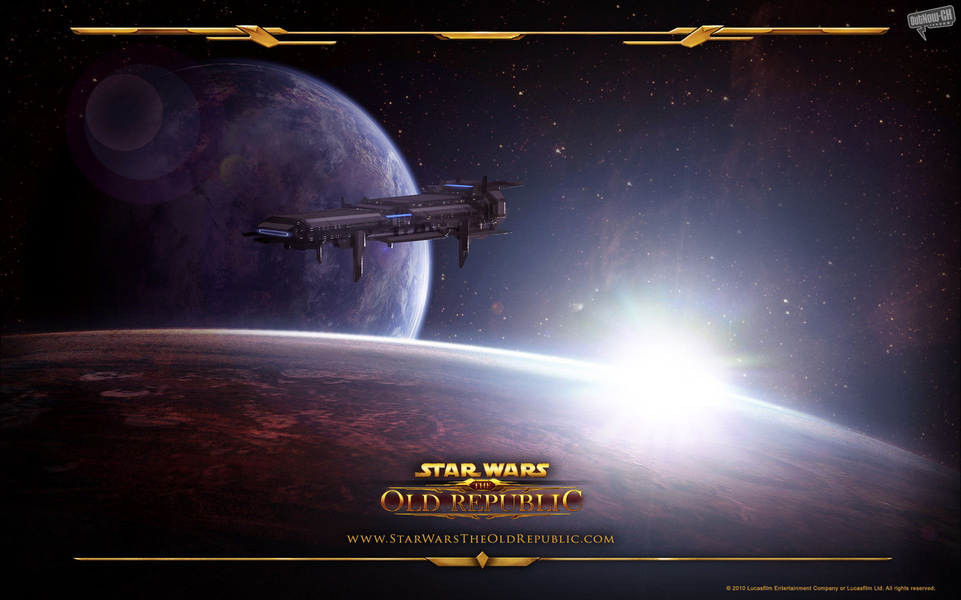 1920x1200 Video Game - Star Wars: The Old Republic Game Star Wars Republic Spaceship  Planet Space
