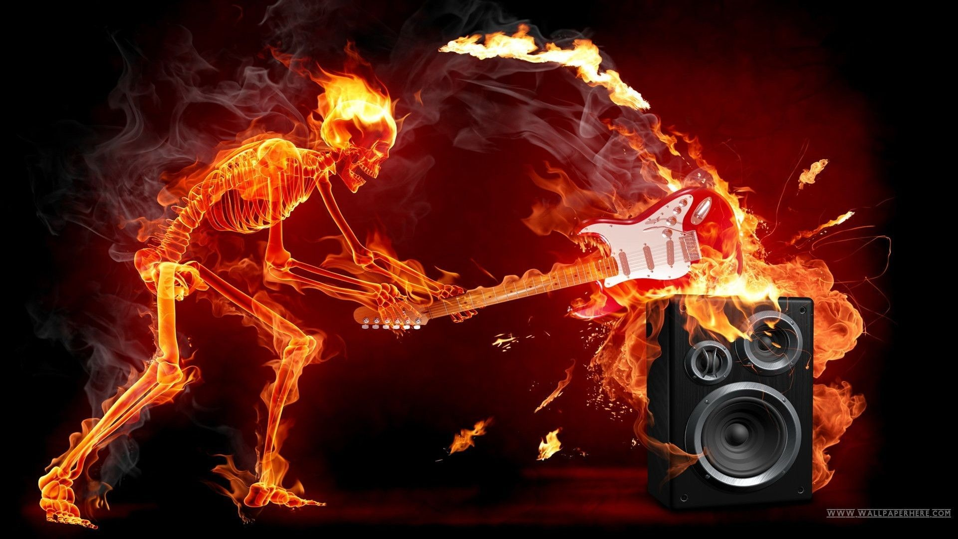 Playing Fire Wallpaper Free: Skull Fire Wallpaper (61+ Images