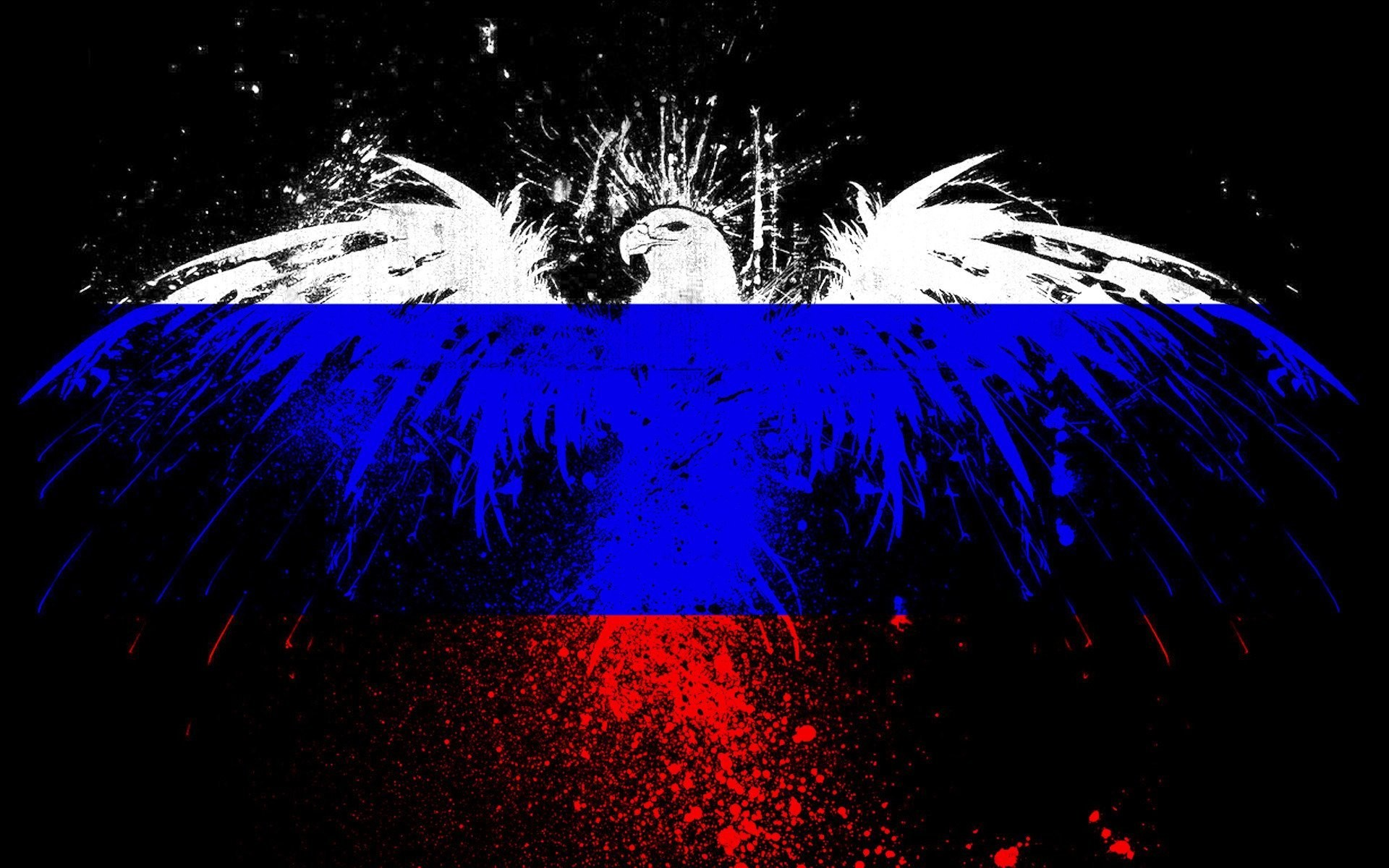 1920x1200 eagle spray paint flag of the russian federation