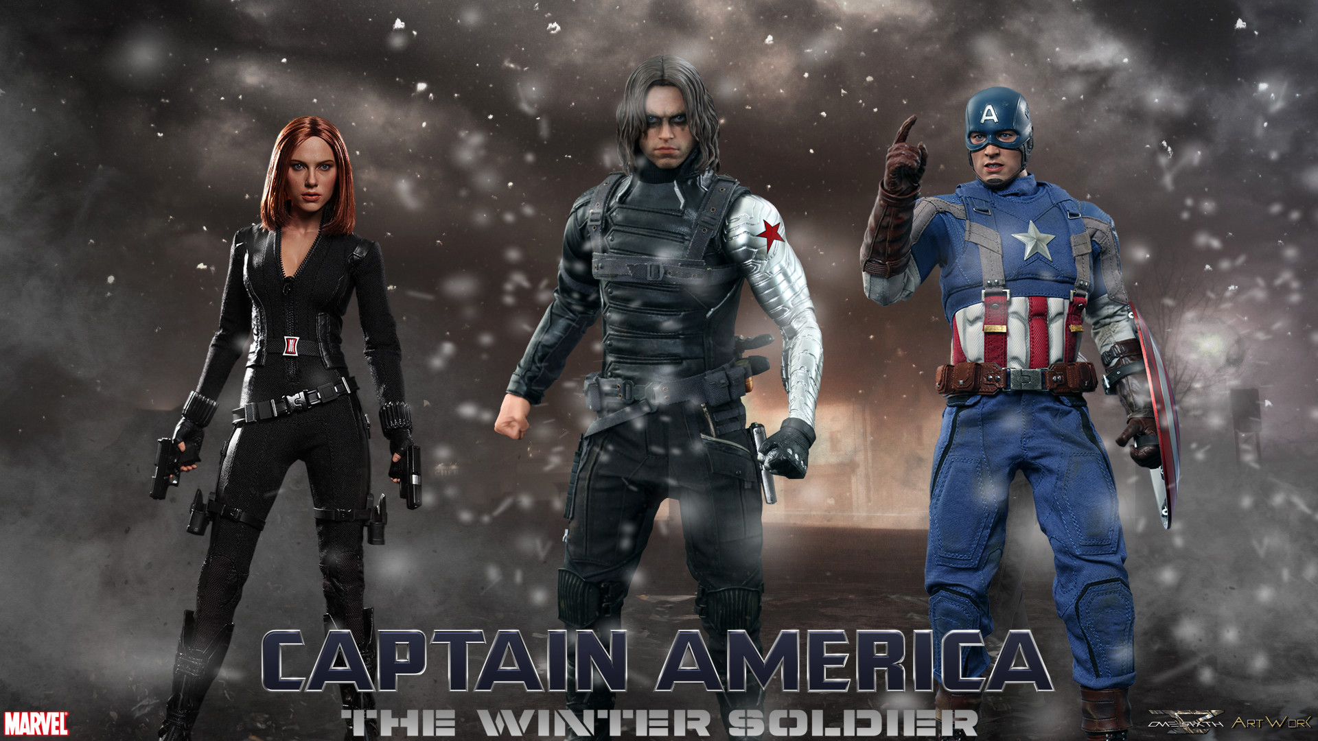 1920x1080 Captain America The Winter Soldier Hot Toys Full HD Wallpaper