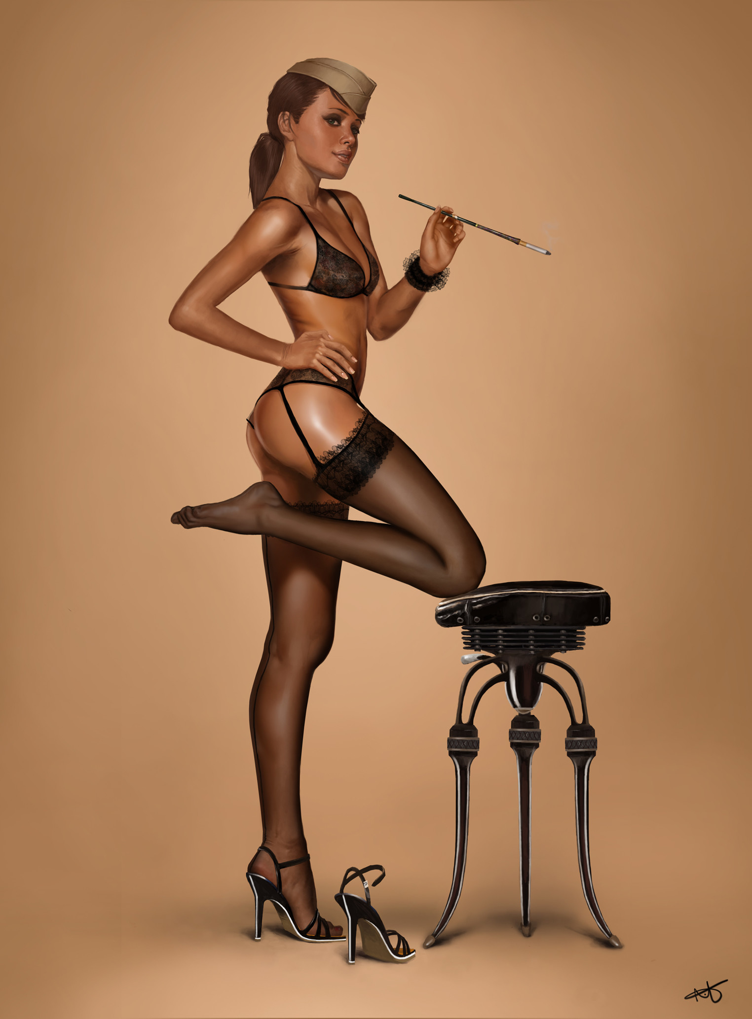 1524x2067 Absolutely Glamorous Digital Pin-up Inspiration | Military pins, Military  and Girls