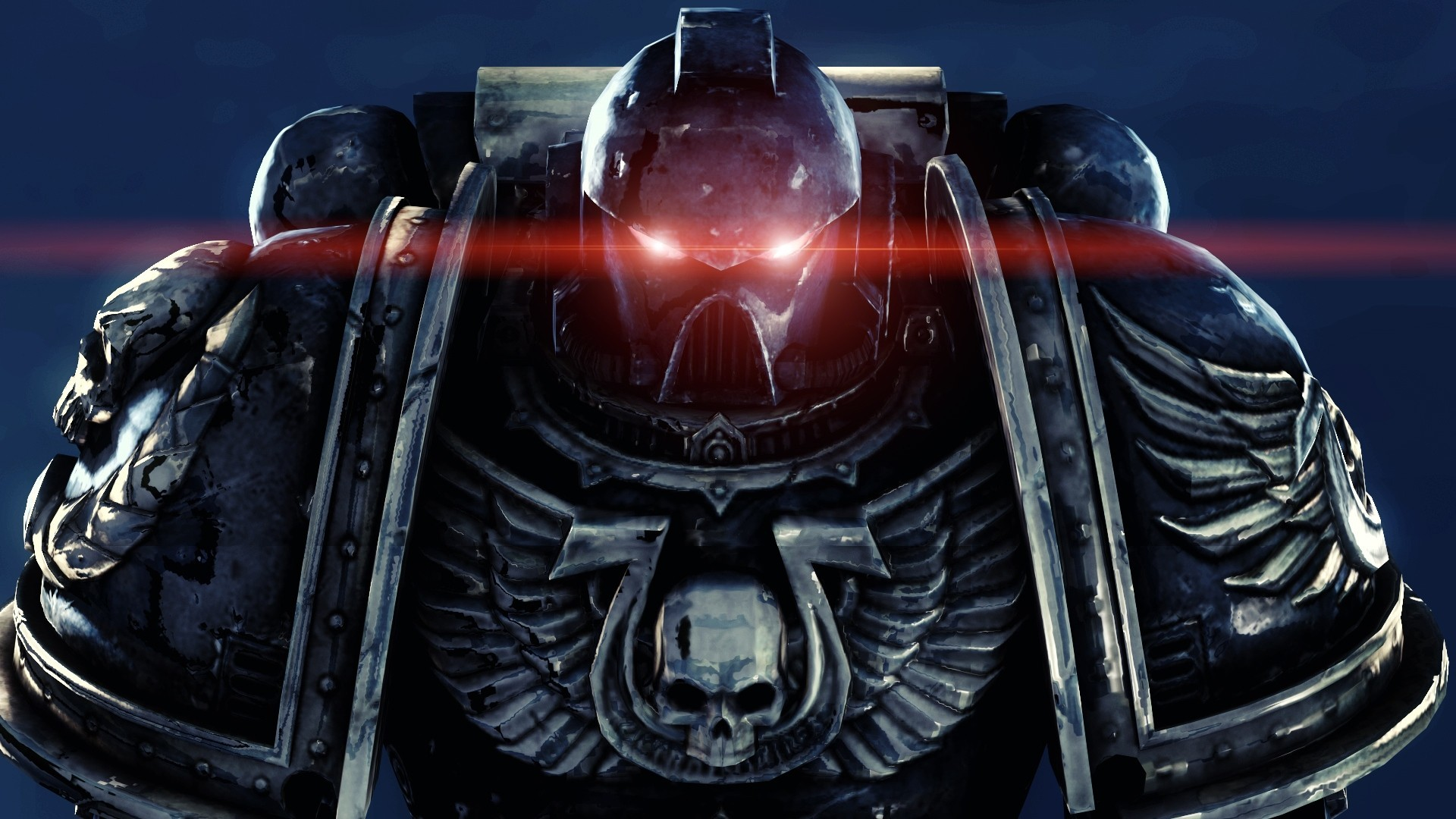 1920x1080 ... warhammer-40k-space-marines-ultramarines-skull-wings-eyes- ...