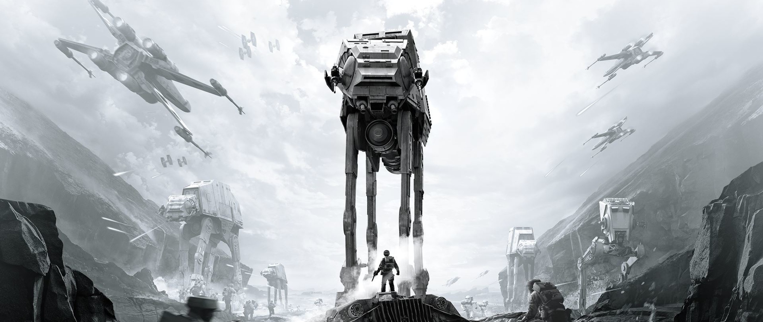 2560x1080  Wallpaper star wars battlefront, ea dice, art