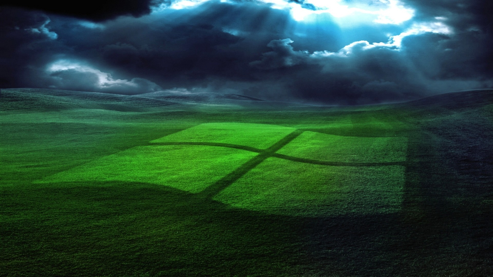 1920x1080 Preview wallpaper windows, field, grass, operating system