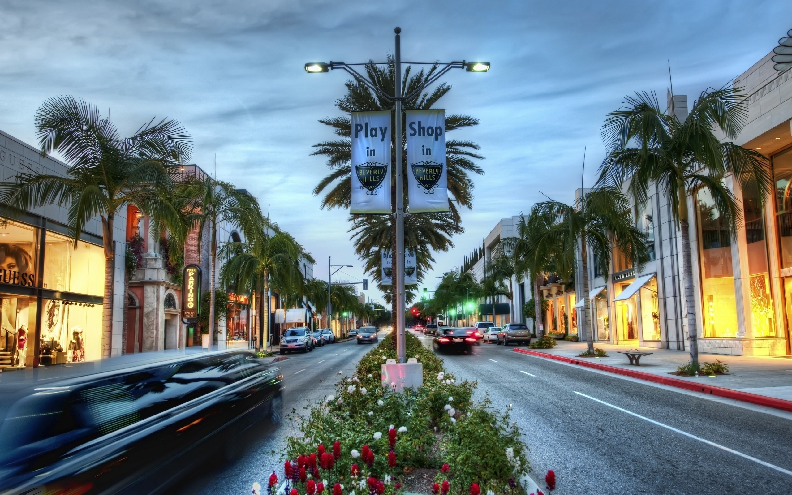 2560x1600 Wallpaper Road, Usa, Los angeles, Hollywood, Shop, California, Beverly hills