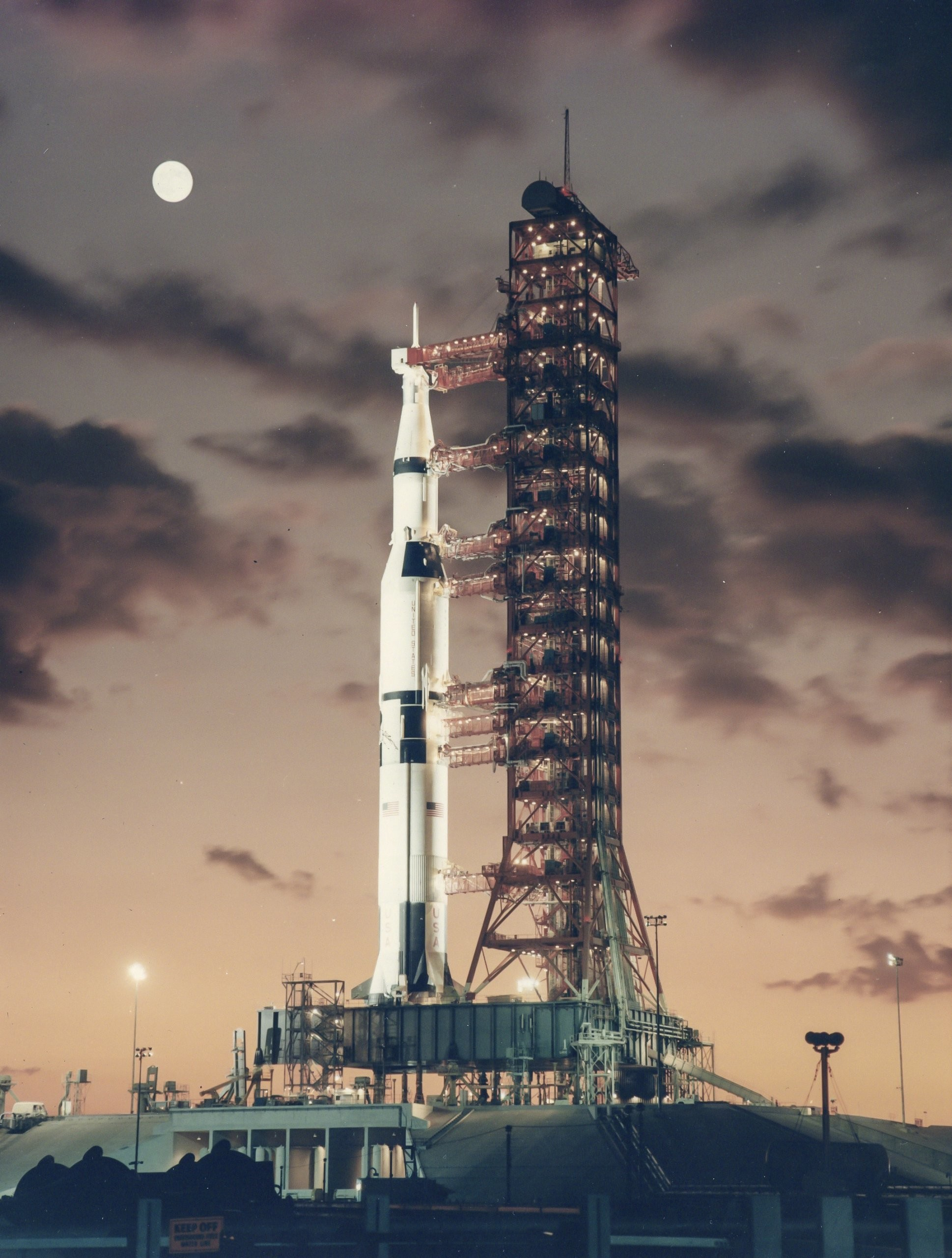 1938x2560 Saturn V rocket dawn 1967