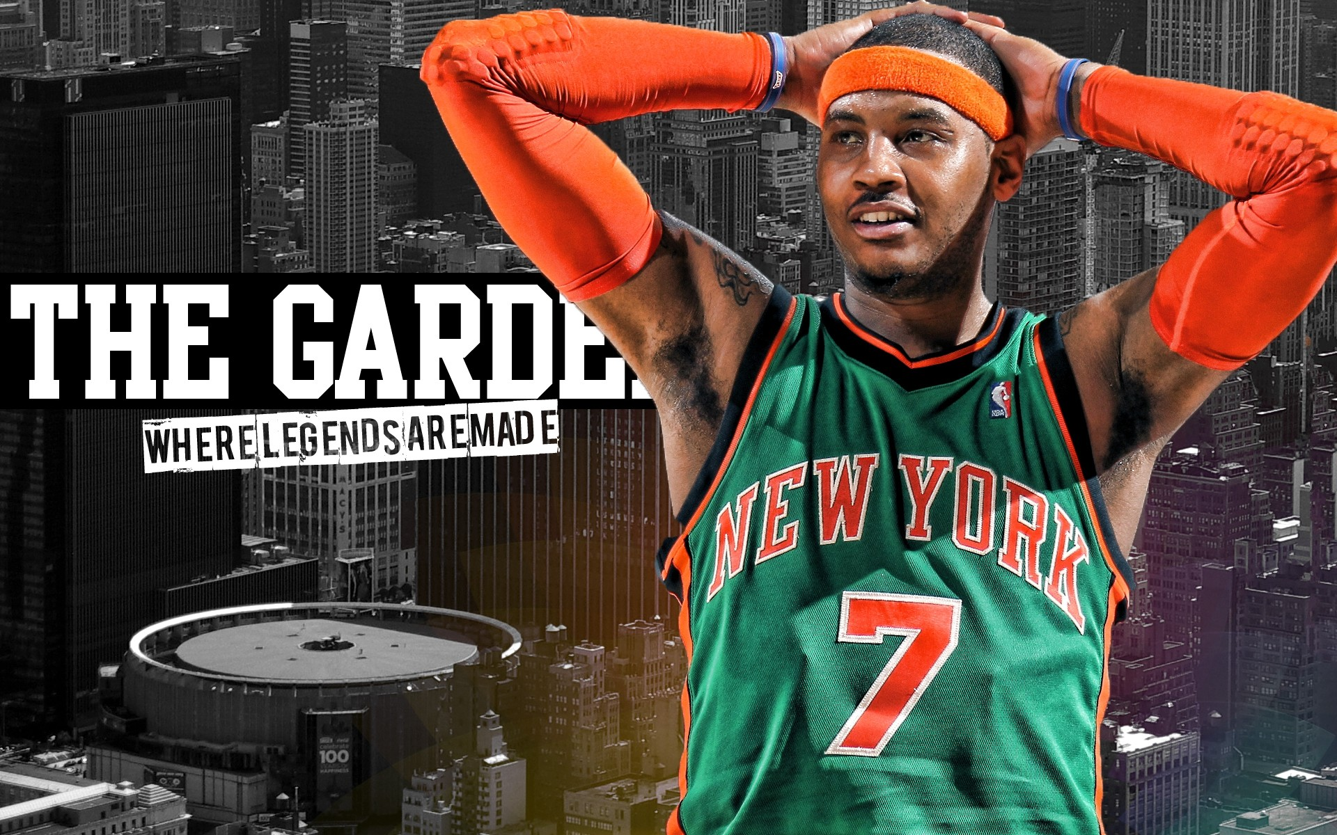 1920x1200 ... Carmelo anthony nba new york knicks wallpaper | AllWallpaper.in .