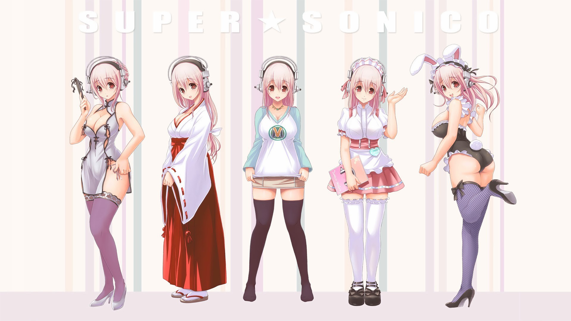 1920x1080 Super Sonico Anime Costumes Wallpaper