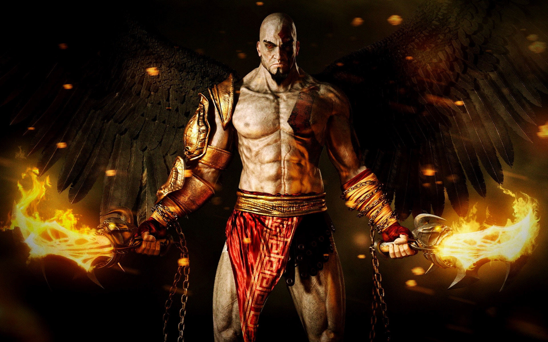 1920x1200 God Of War Kratos With Angel Wings HD Wallpapers in HD