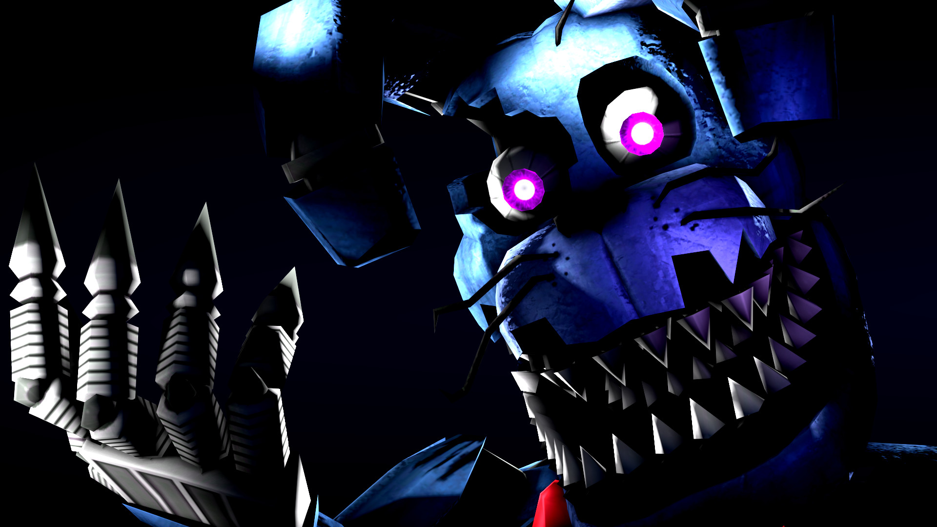 1920x1080 Full HD Wallpapers FNAF Nightmare Bonnie 1395.33 Kb