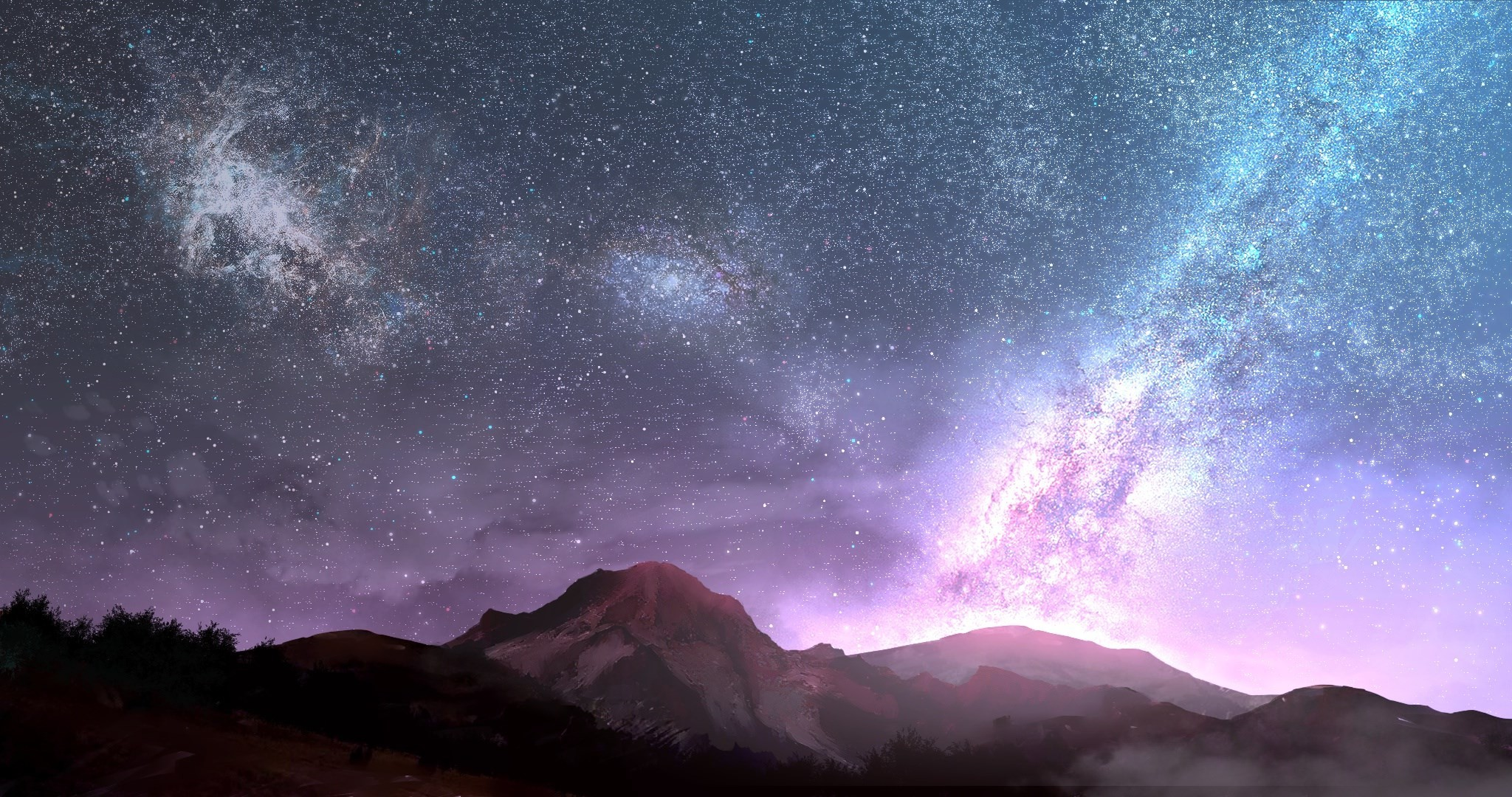 2048x1080 high resolution wallpapers widescreen milky way