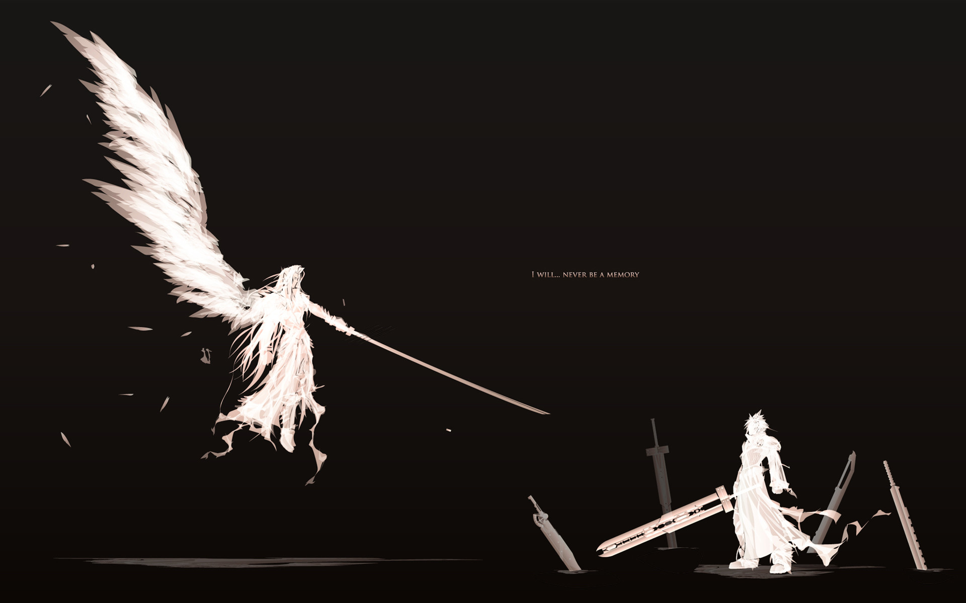 1920x1200 Final Fantasy Sephiroth clouds simple background video games wallpaper  (#733732) / Wallbase.