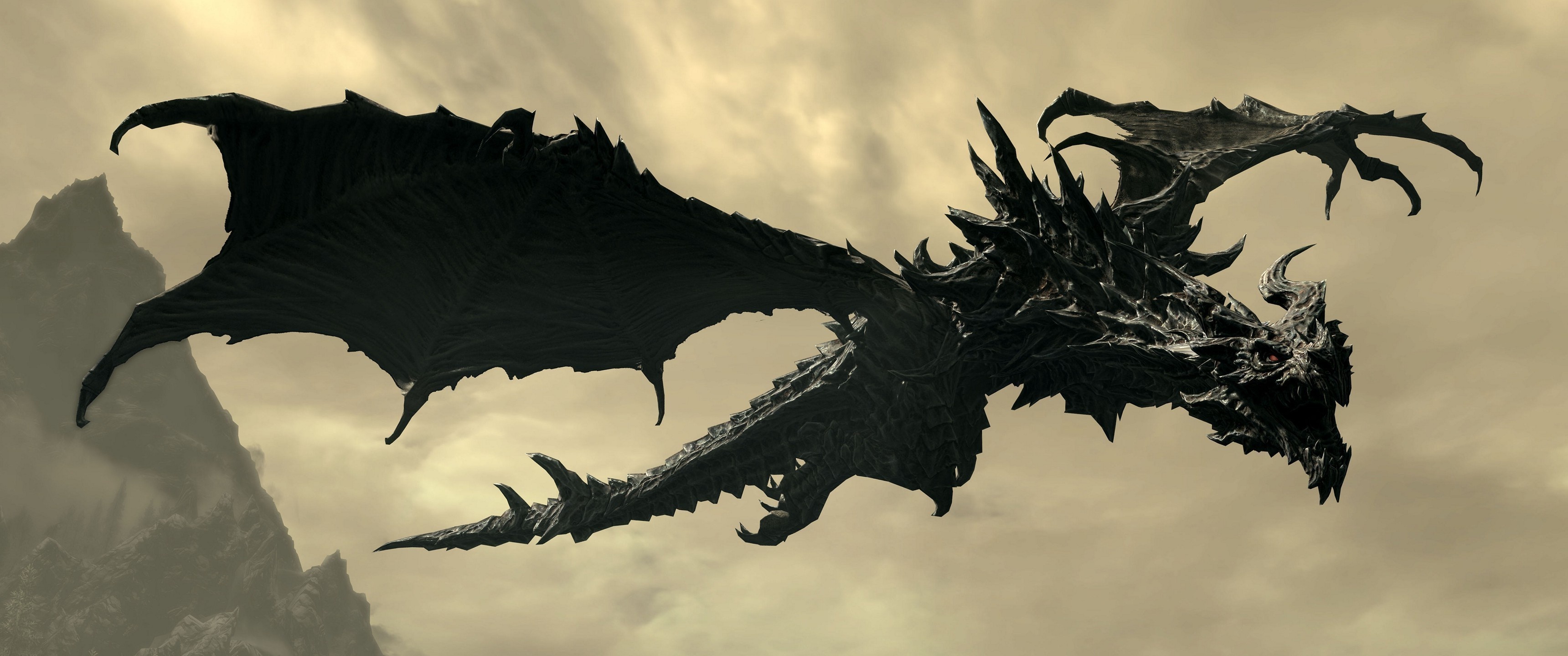 3440x1440 Alduin, Video Games, The Elder Scrolls V: Skyrim, Dragon Wallpapers HD /  Desktop and Mobile Backgrounds