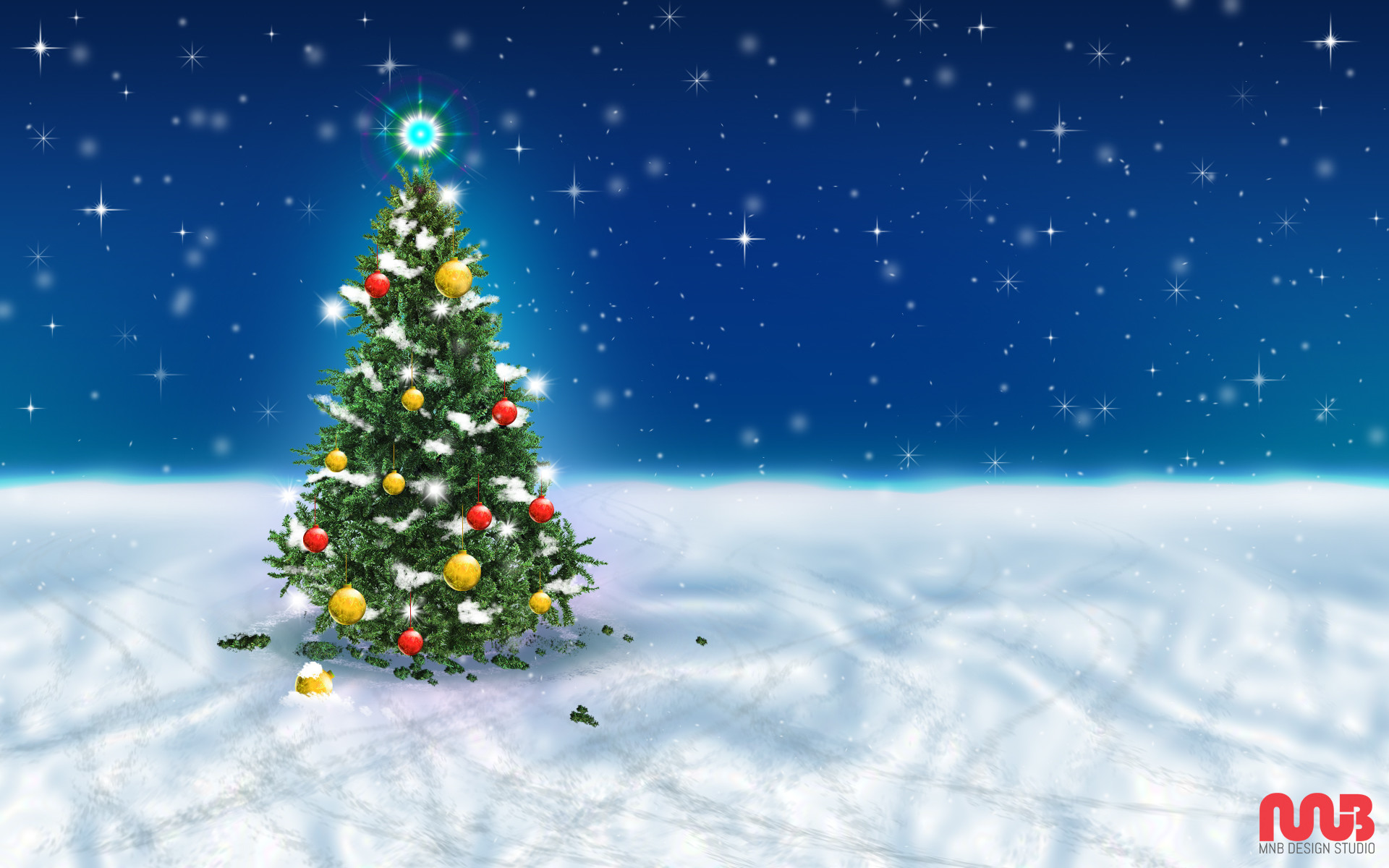 1920x1200 Christmas Tree Snow Sky