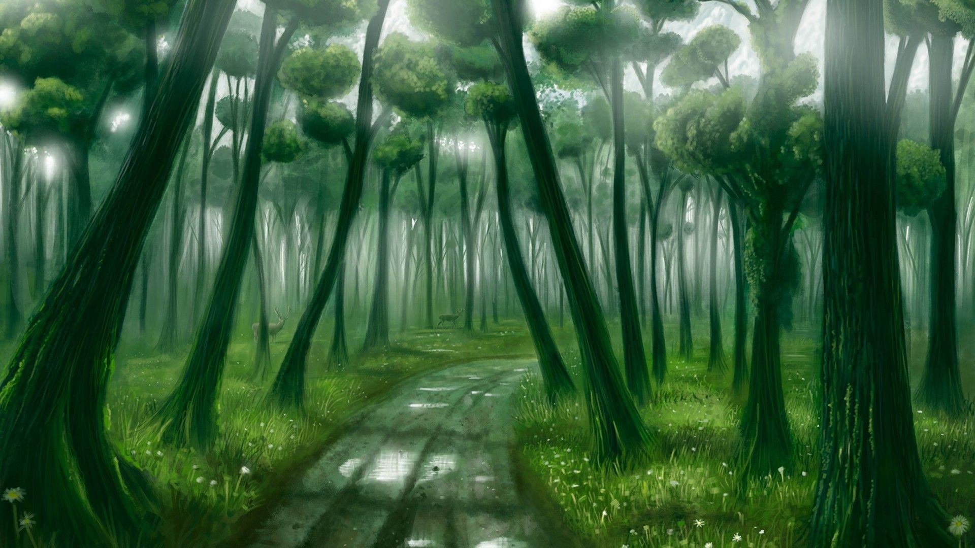 1920x1080 Fantasy Forest art Wallpaper[1920 × 1080] ...