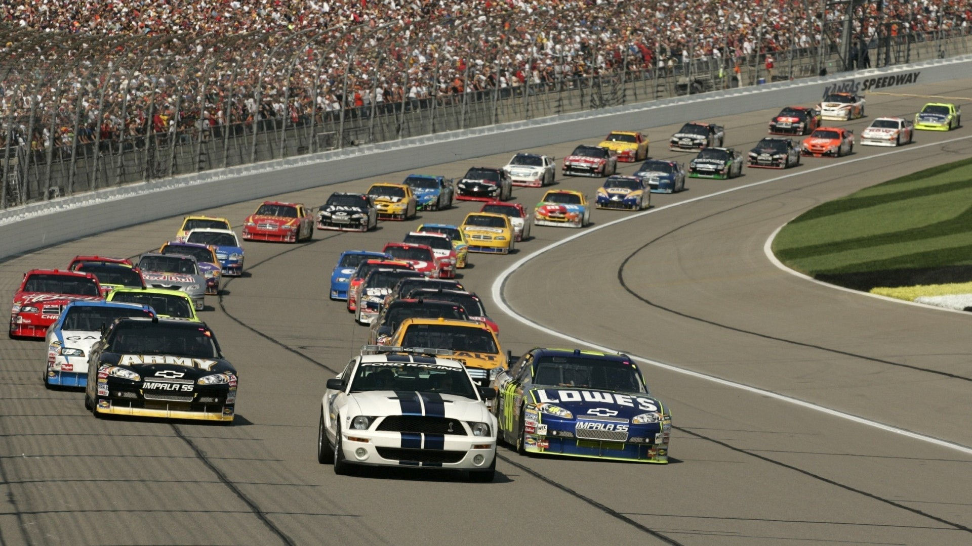 1920x1080 Preview wallpaper grandstand, track, america, cars, nascar, background, people