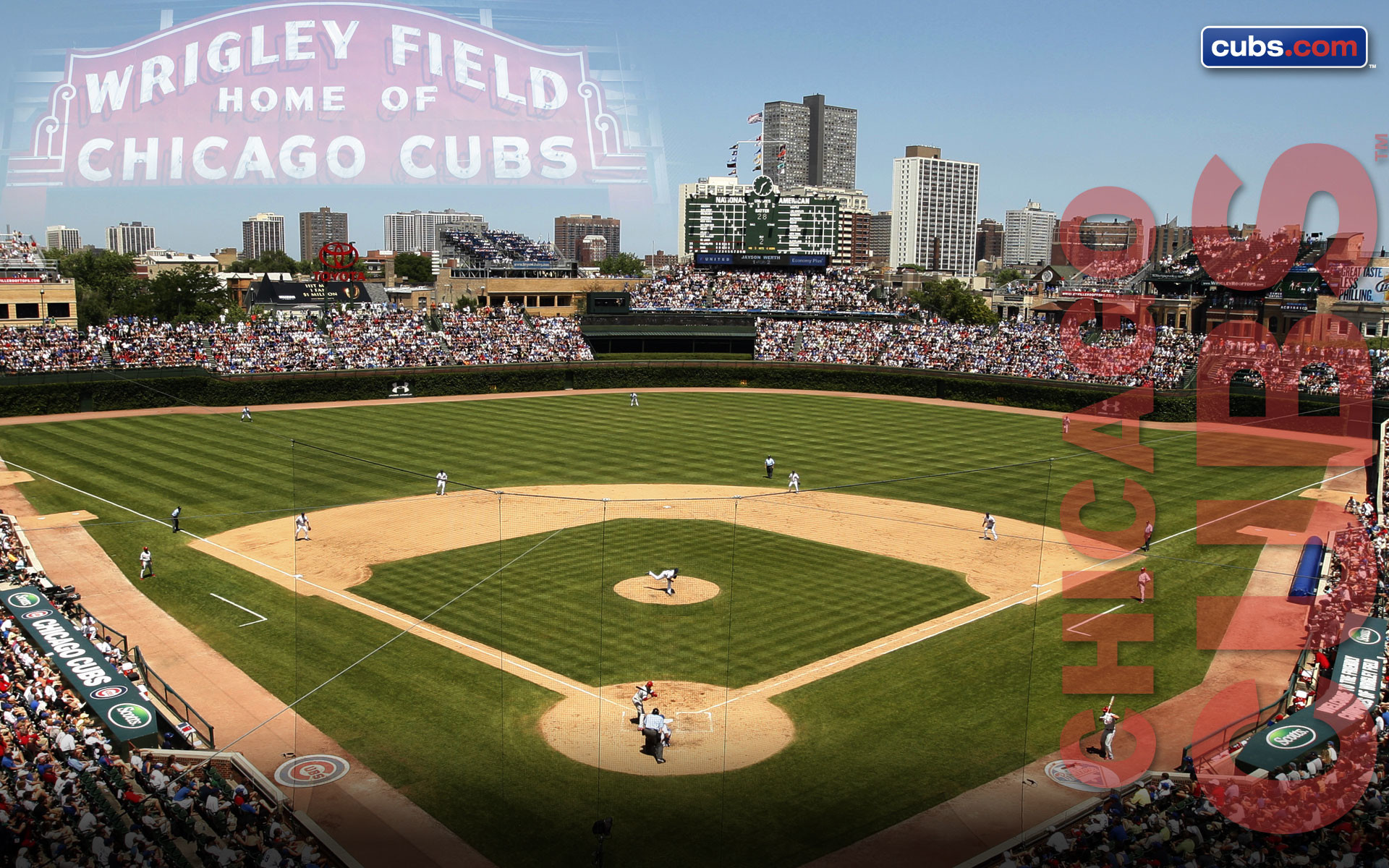 1920x1200 Wrigley Field Wallpaper · Chicago Cubs Wallpaper