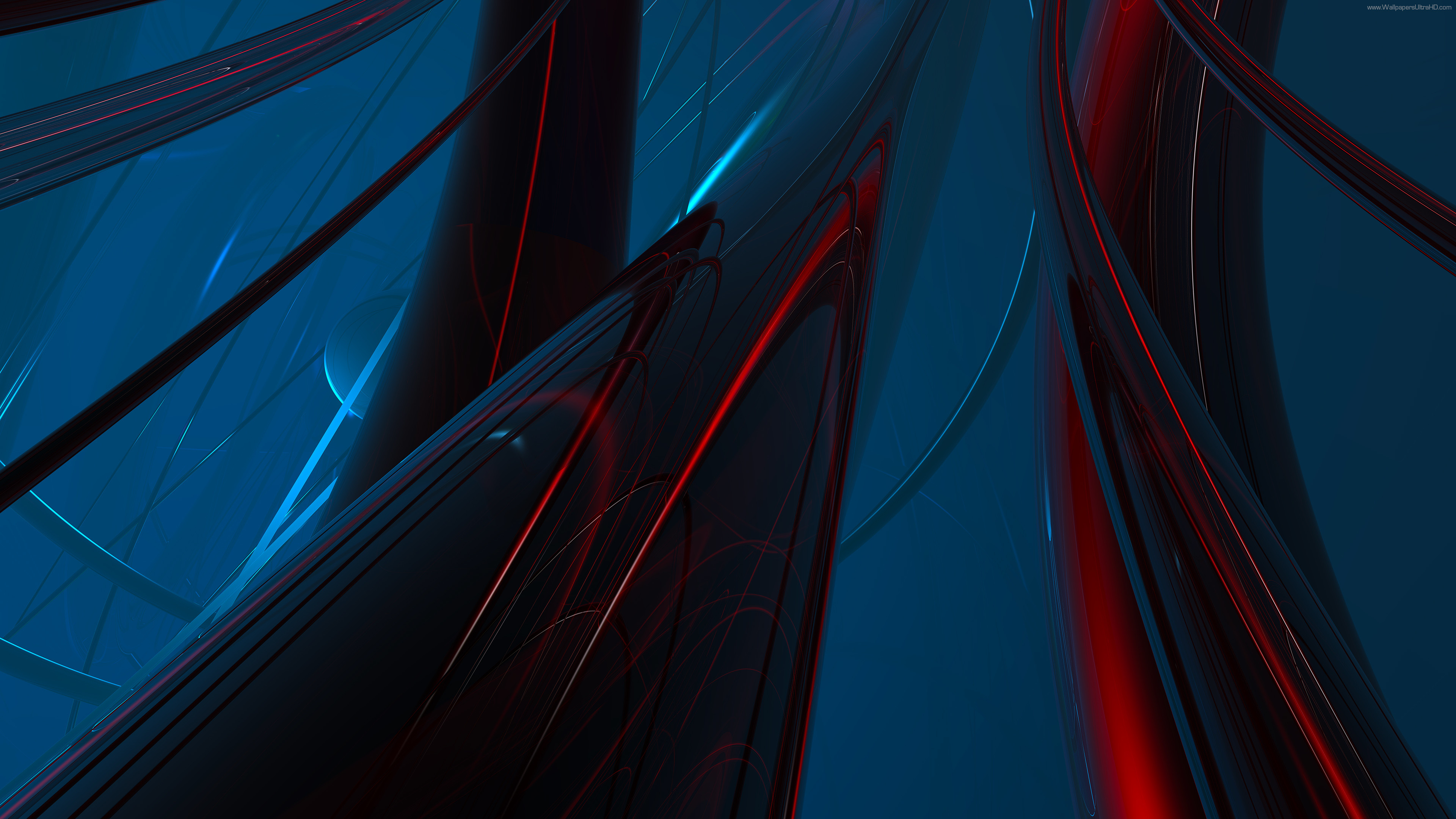 3840x2160 UHD wallpapers 4K Abstract red + blue, Abstract green + purple .