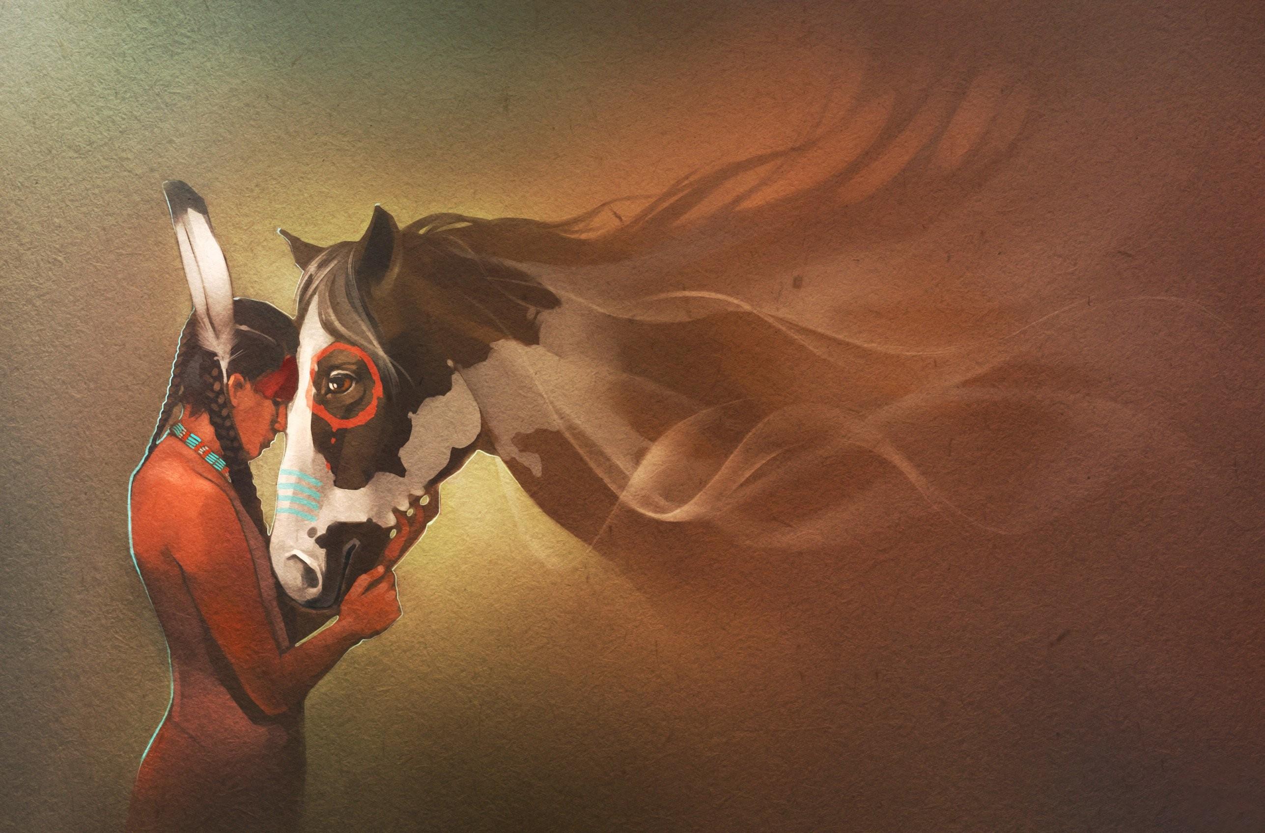 2575x1696 Horses Indian Animals Mood Western Nativew Horse Wallpaper