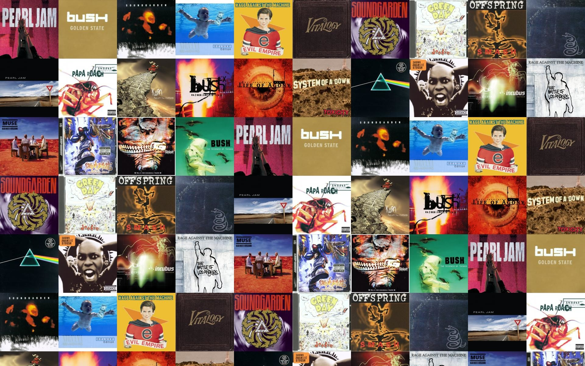 1920x1200 Pearl Jam Ten Bush Golden State Soundgarden Superunknown Wallpaper Â« Tiled  Desktop Wallpaper