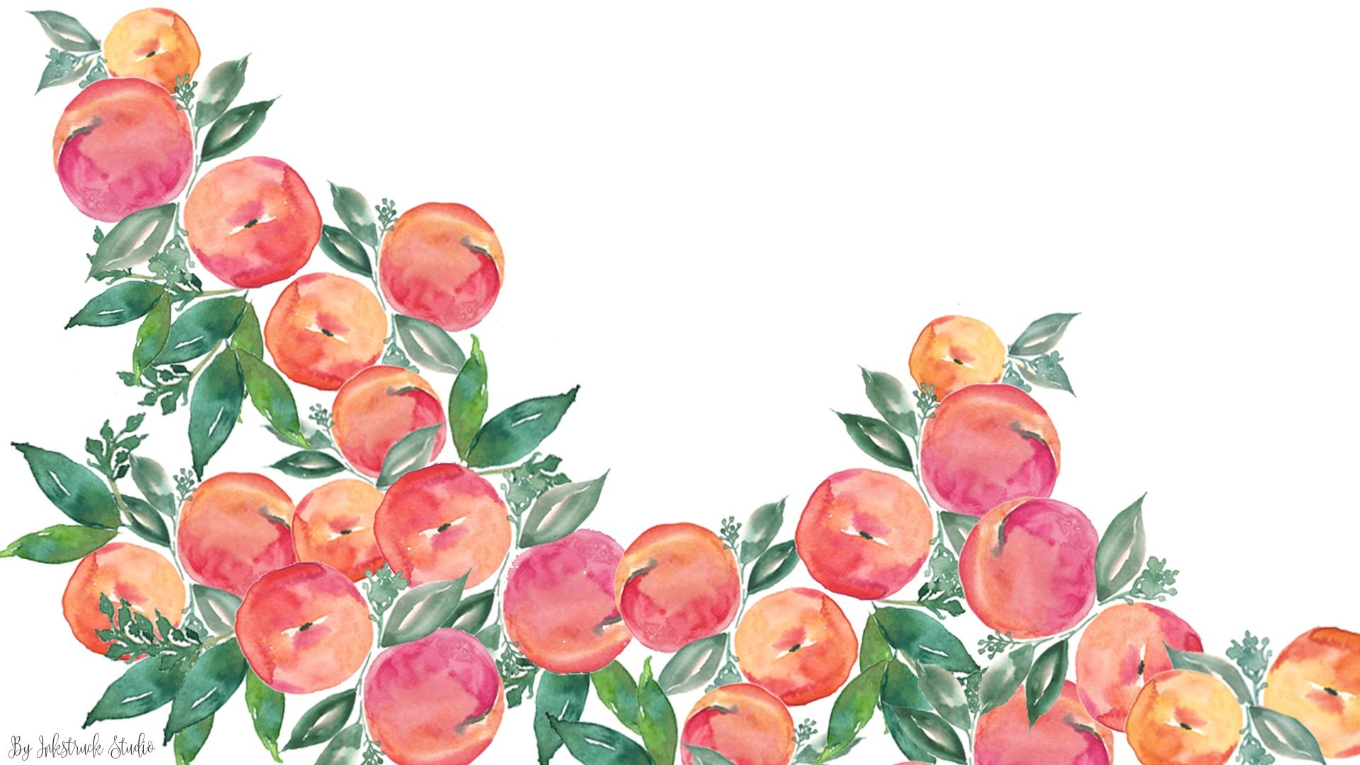 1920x1080 Watercolor peach wallpaper for desktop ...
