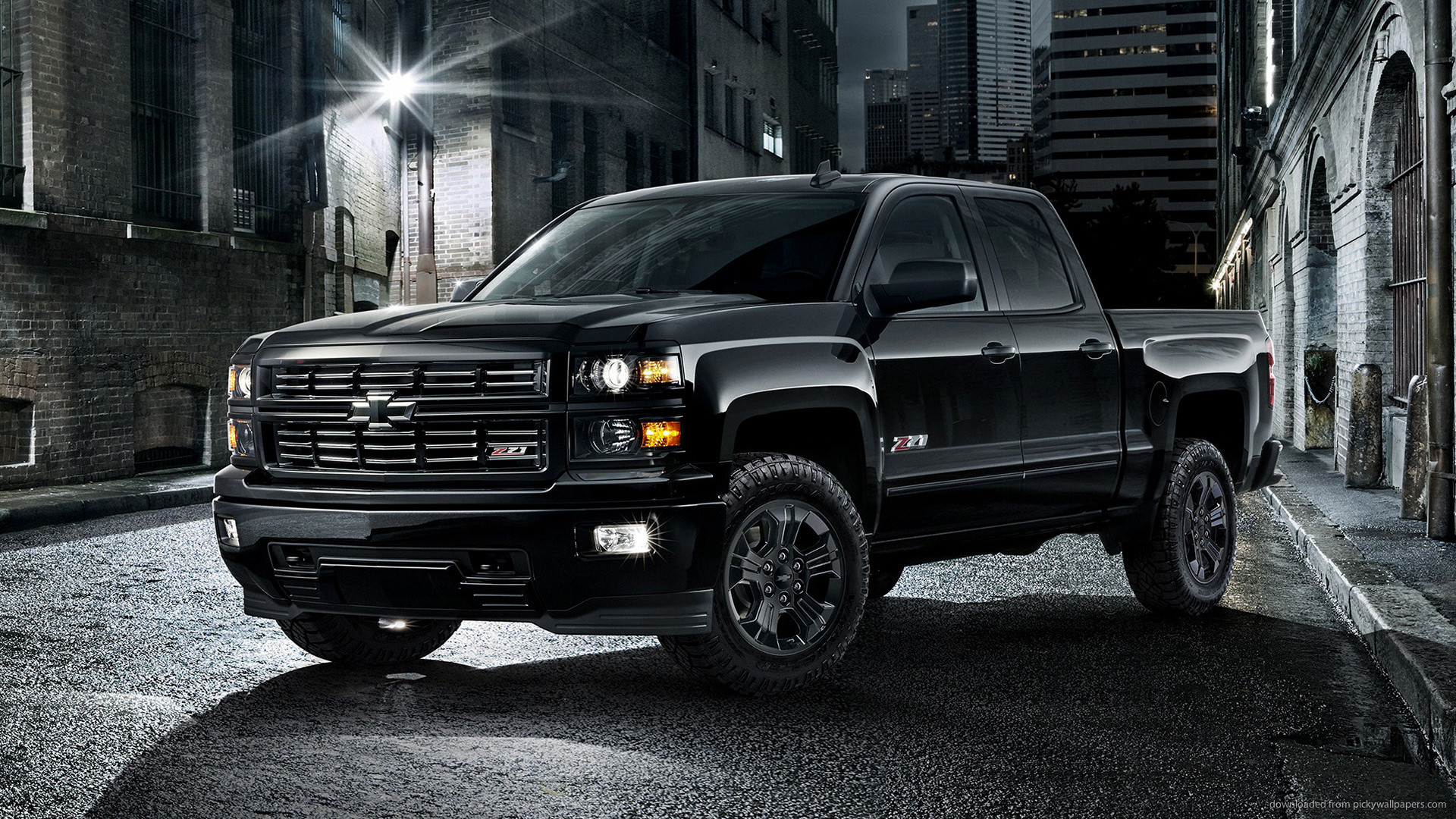 1920x1080 2015 Black Chevrolet Silverado Wallpaper picture
