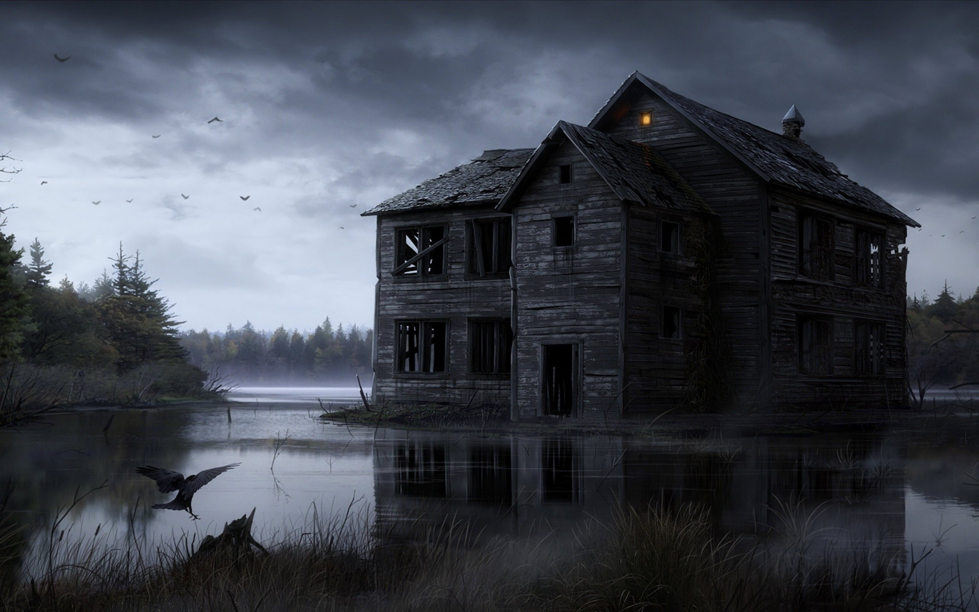 1920x1200 Halloween, dark, ghost, horror, haunted Vues: 539