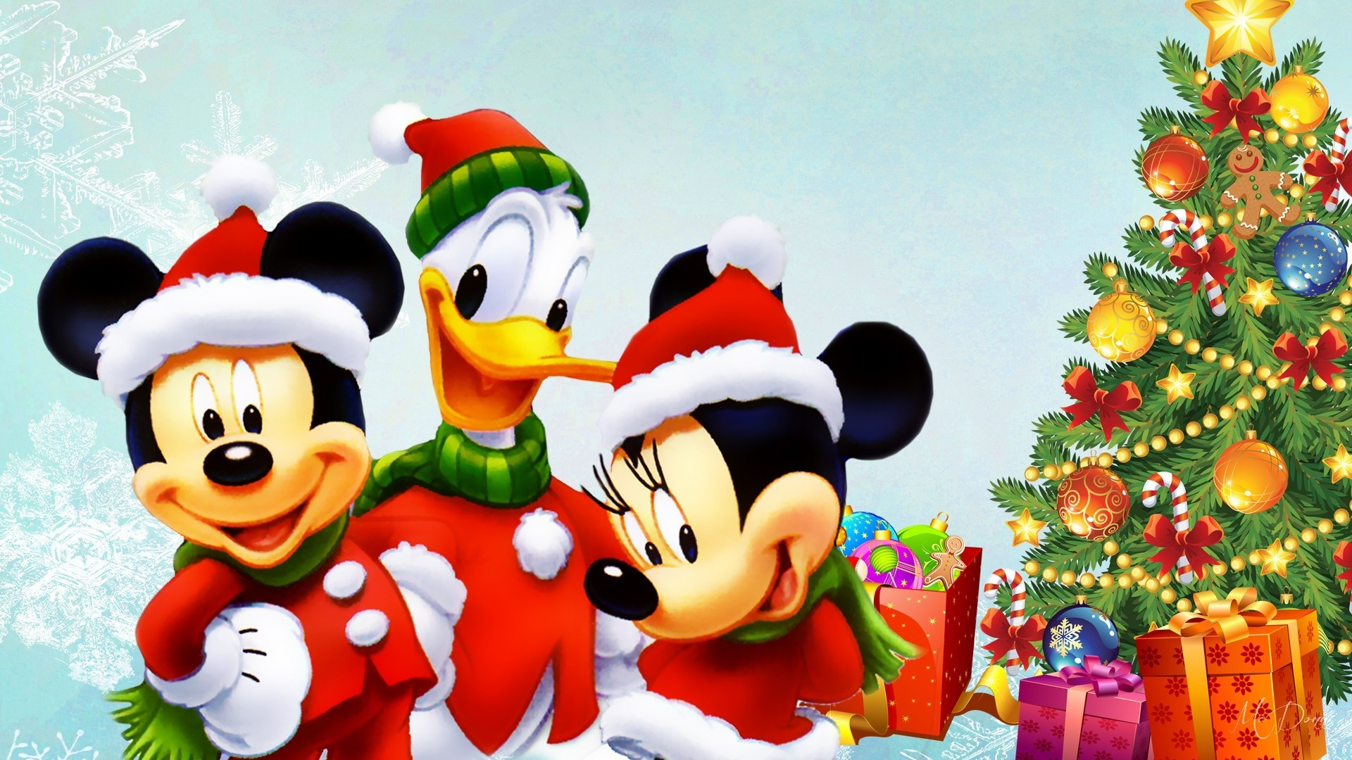 1920x1080 Disney Tree Mickey Presents Duck Donald Christmas Mouse Minnie Gifts Winter  Picture Backgrounds For Desktop -