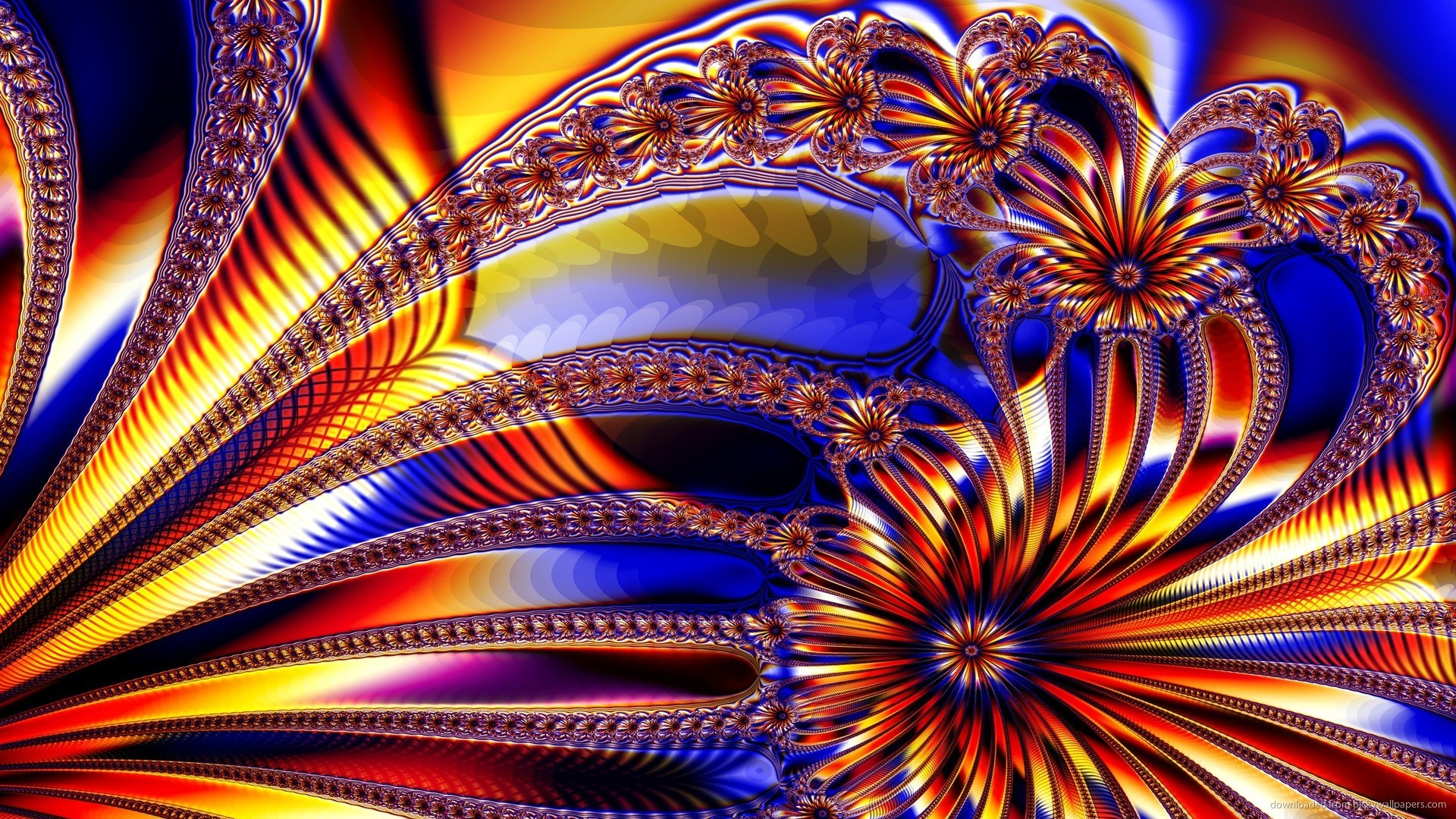 1920x1080 Digital Art Fractals Wallpaper Background picture