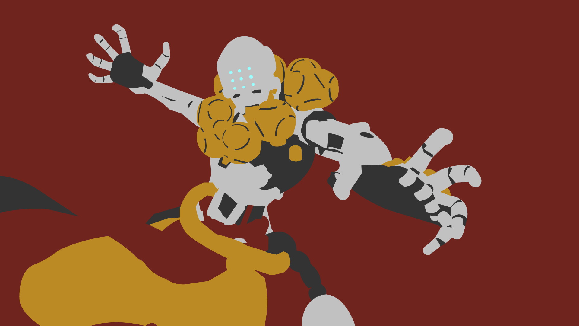 1920x1080 ... Overwatch Vector Wallpaper - Zenyatta by choren64
