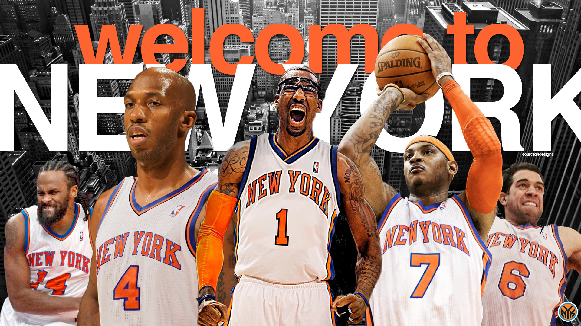 1920x1080 New York Knicks 2012 Team Wallpaper