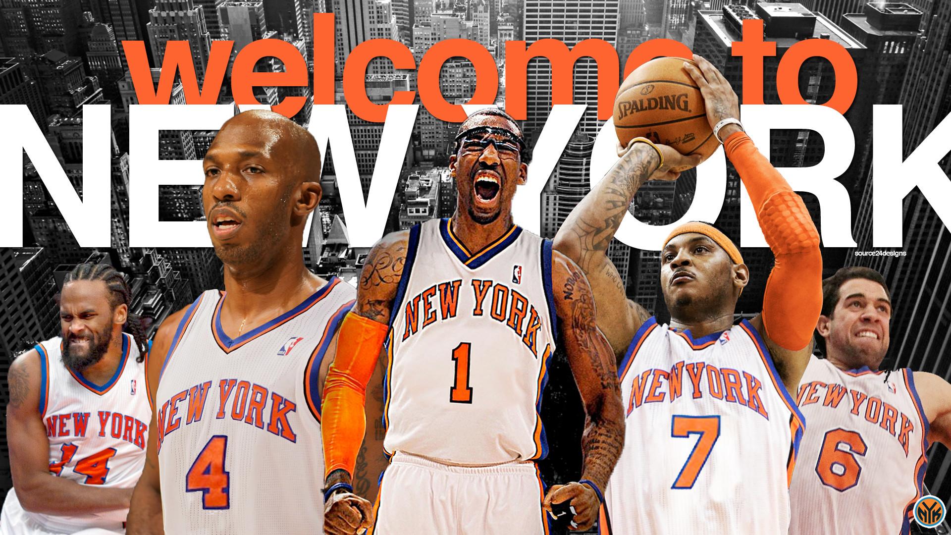NBA Team New York Knicks Logo Dark Background HD