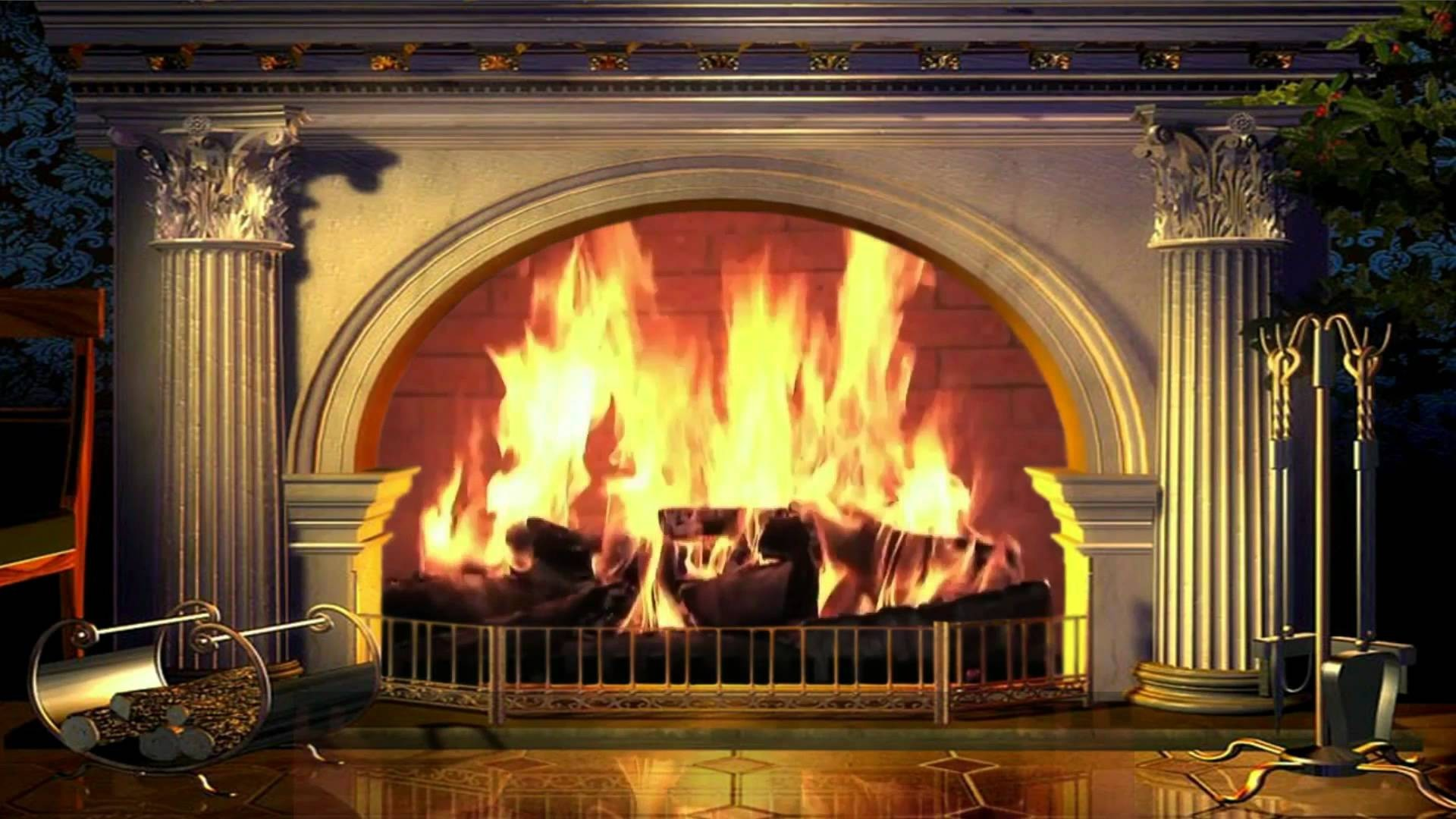 1920x1080 Fireplace Wallpaper