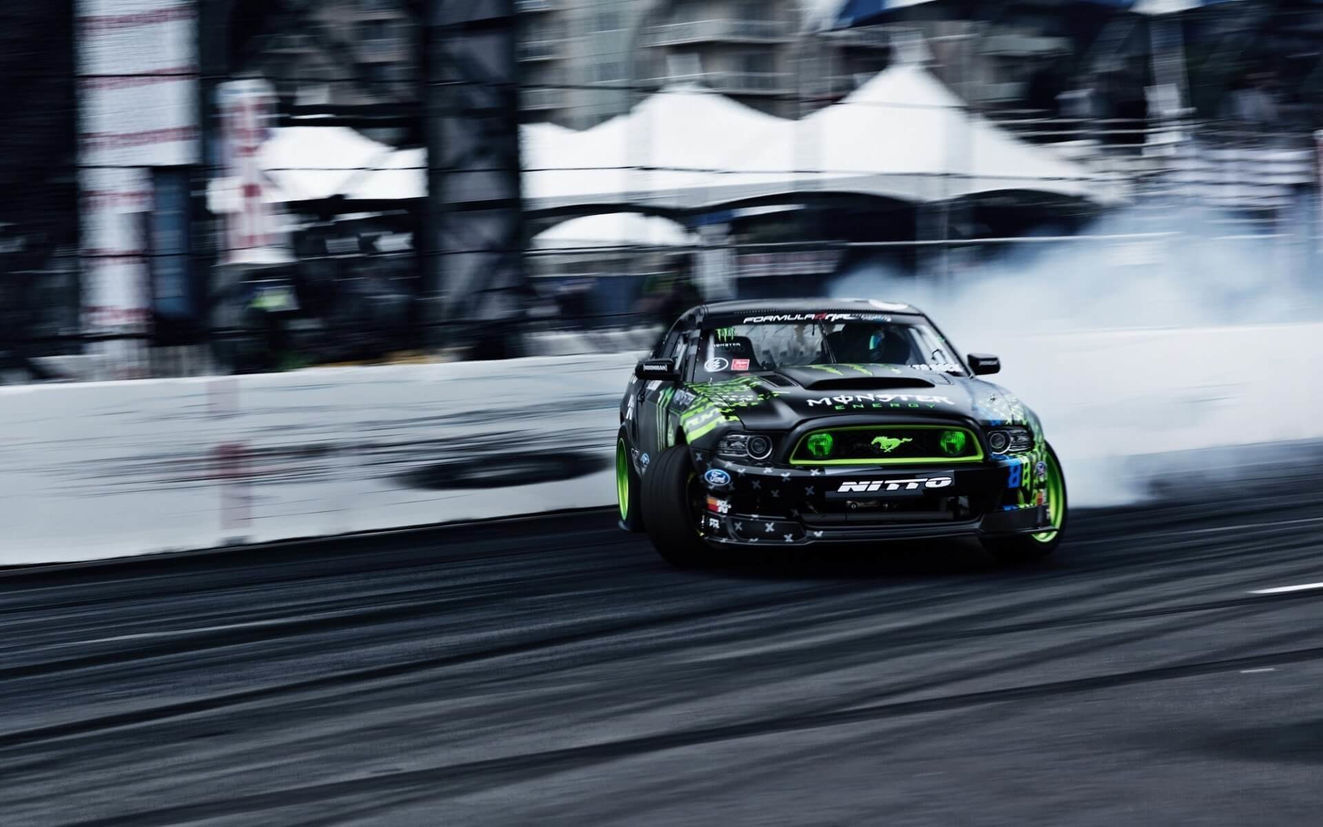 1920x1200 Monster Energy Ford Mustang RTR Drifting
