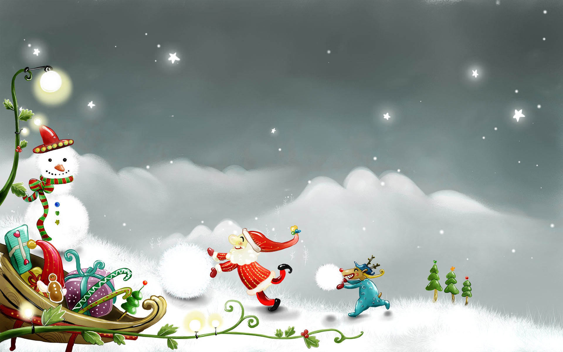 christmas cartoon wallpaper (62+ images)