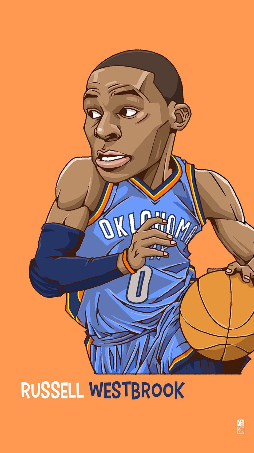 1080x1920 Russell Westbrook. Tap to see Collection of Famous NBA Basketball Players  Cute Cartoon Wallpapers for