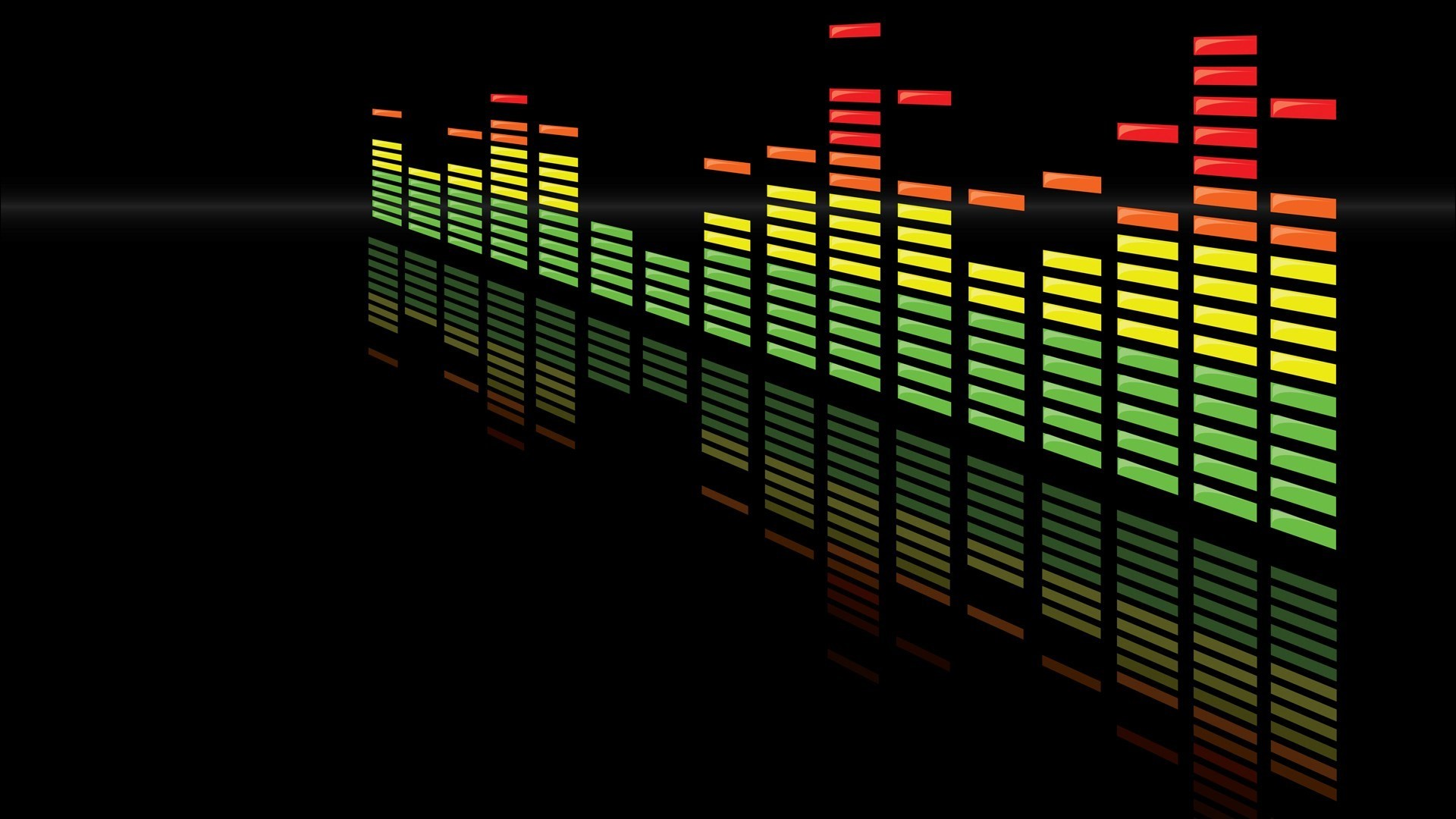 1920x1080 Music Equalizer Colorful Full HD Desktop Wallpapers