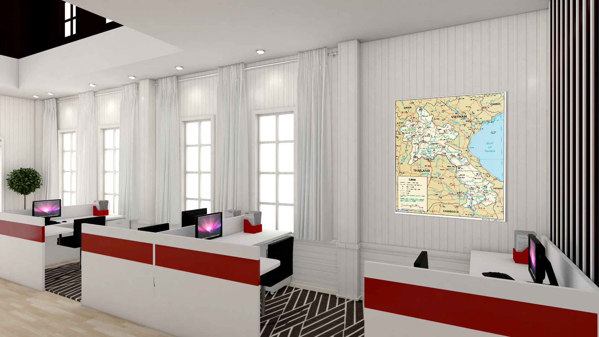 1920x1080 HOME OFFICE & LIVING ROOM 3D model