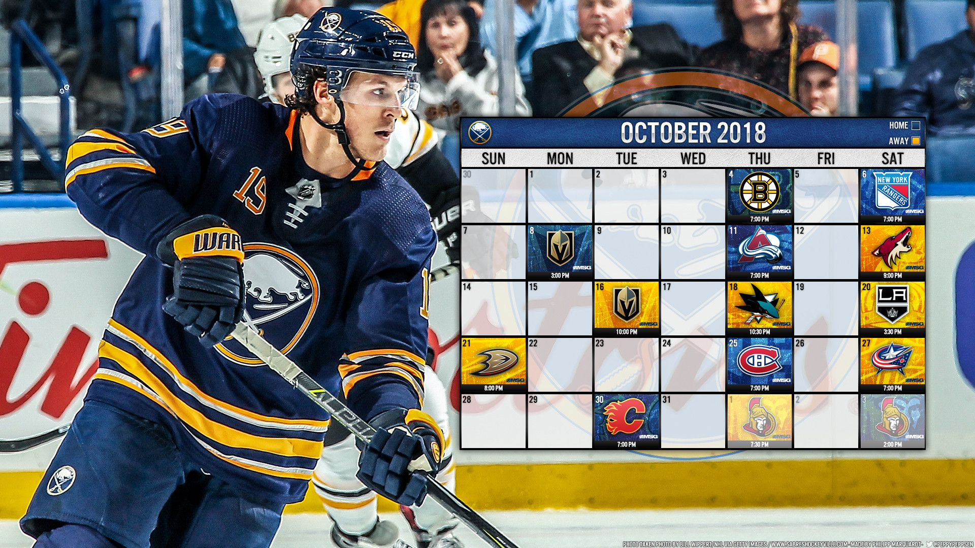1920x1080 October 2018 featuring Jake McCabe: