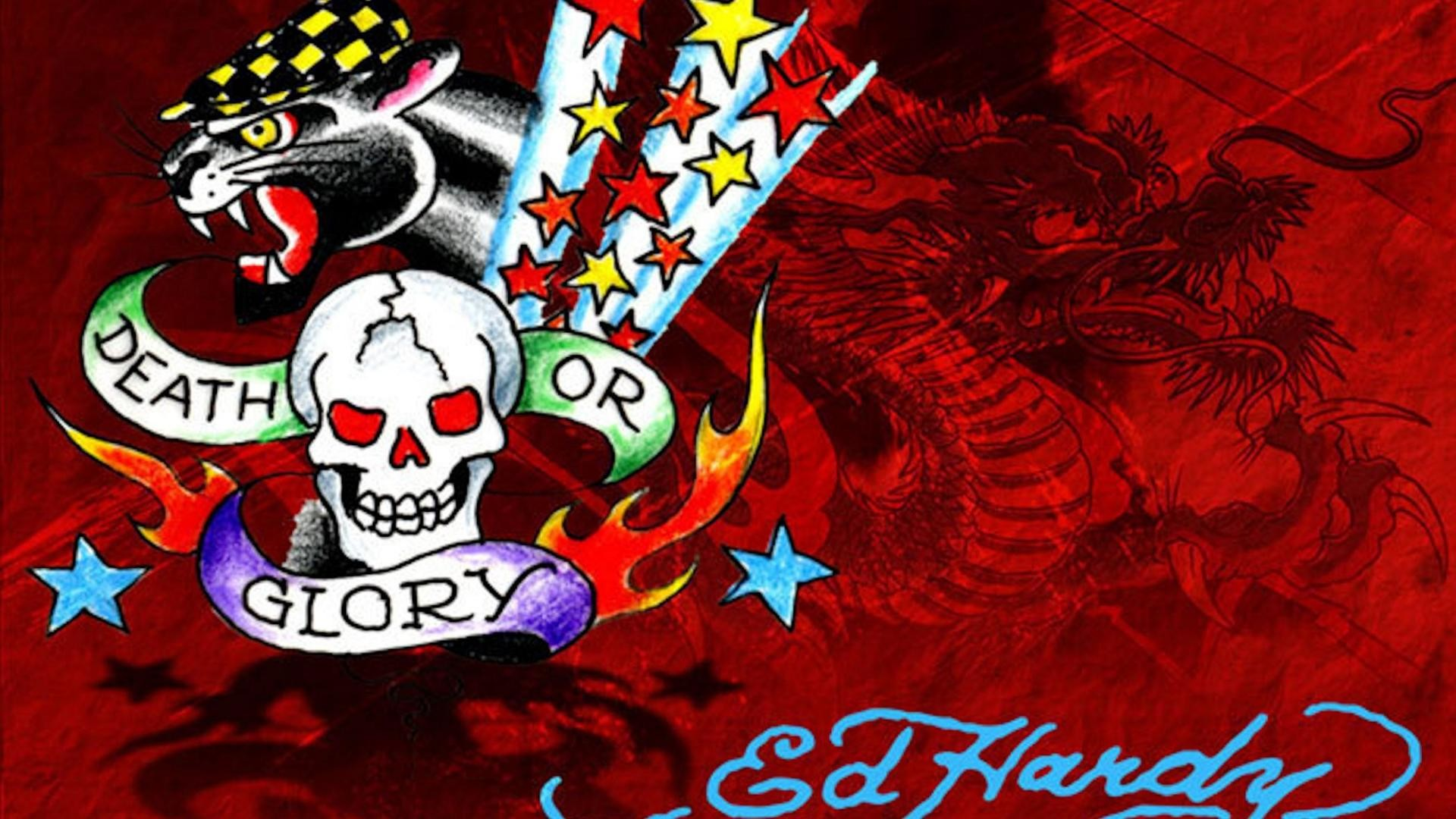 Ed hardy backgrounds 55 images - Ed hardy designs wallpaper ...
