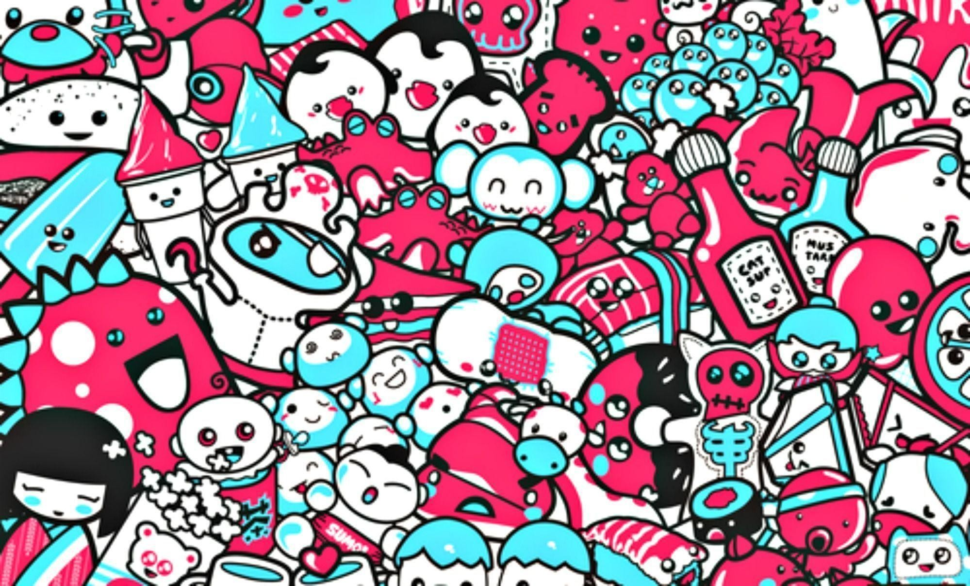 1999x1207 Wallpapers For > Cute Skull Wallpapers