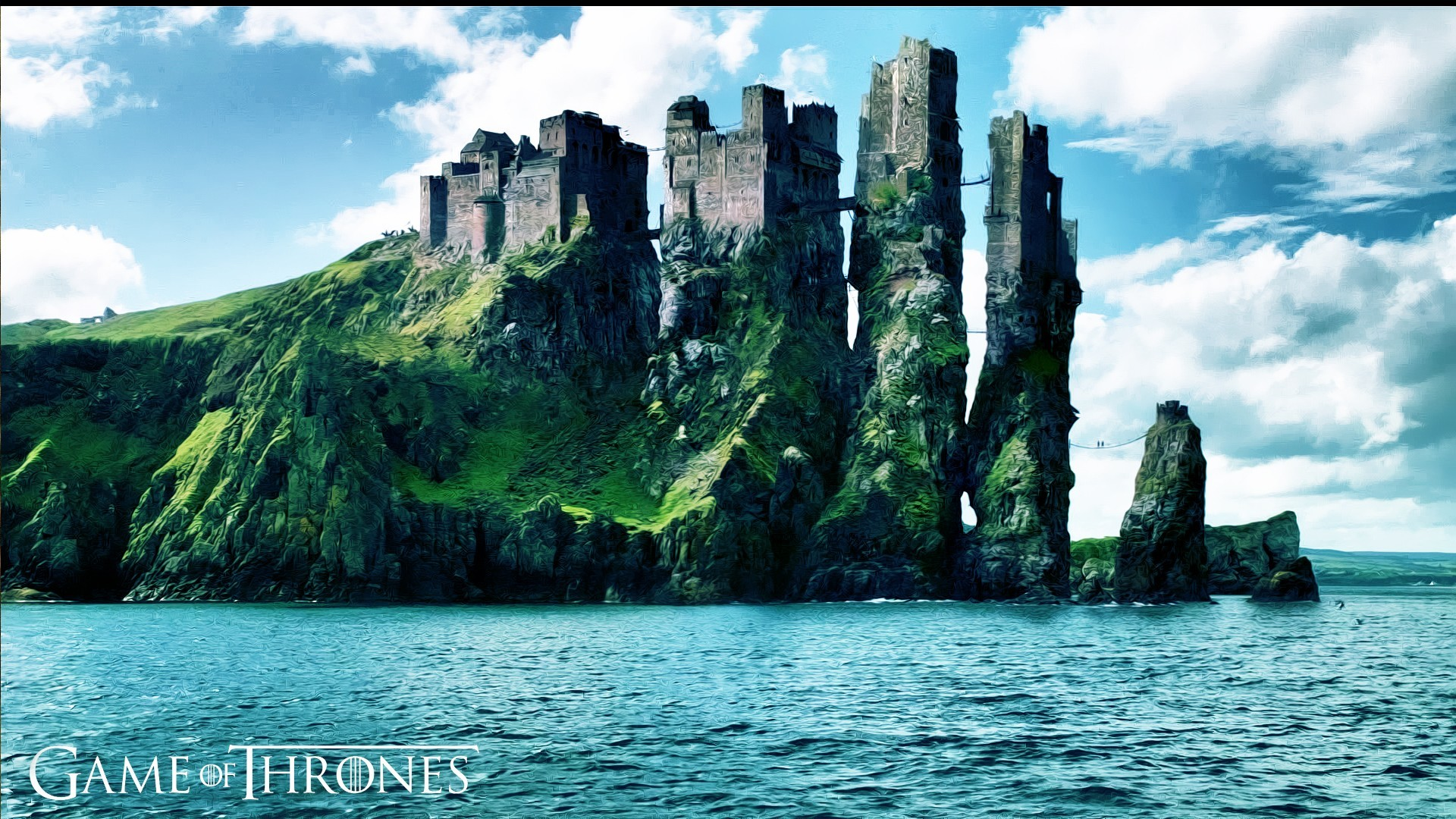 1920x1080 ... wallpaper 7545; game of thrones fantasy art castle digital art tv coast  sea ...